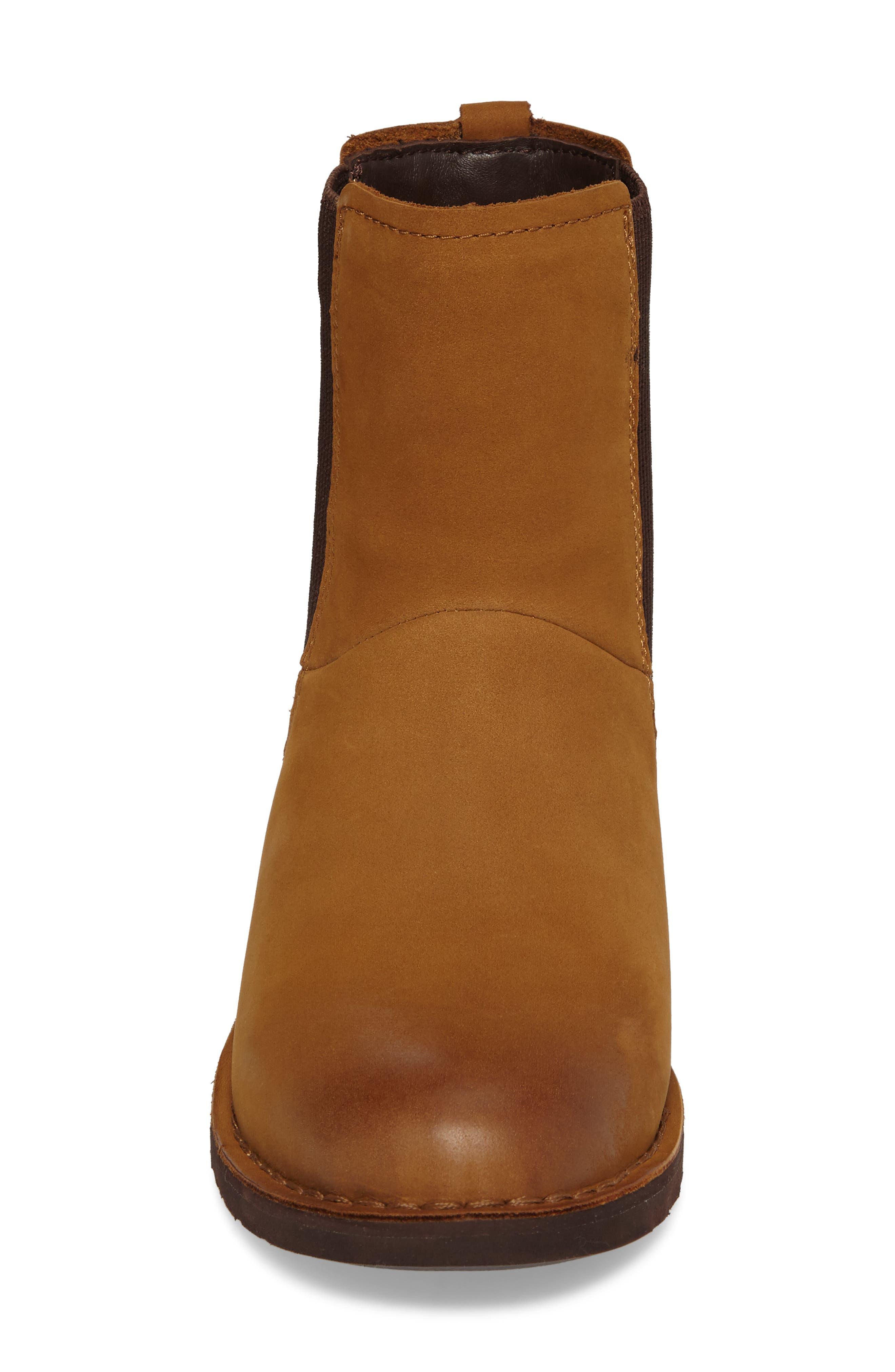 Larra Boot,                             Alternate thumbnail 4, color,                             Chestnut Nubuck Leather