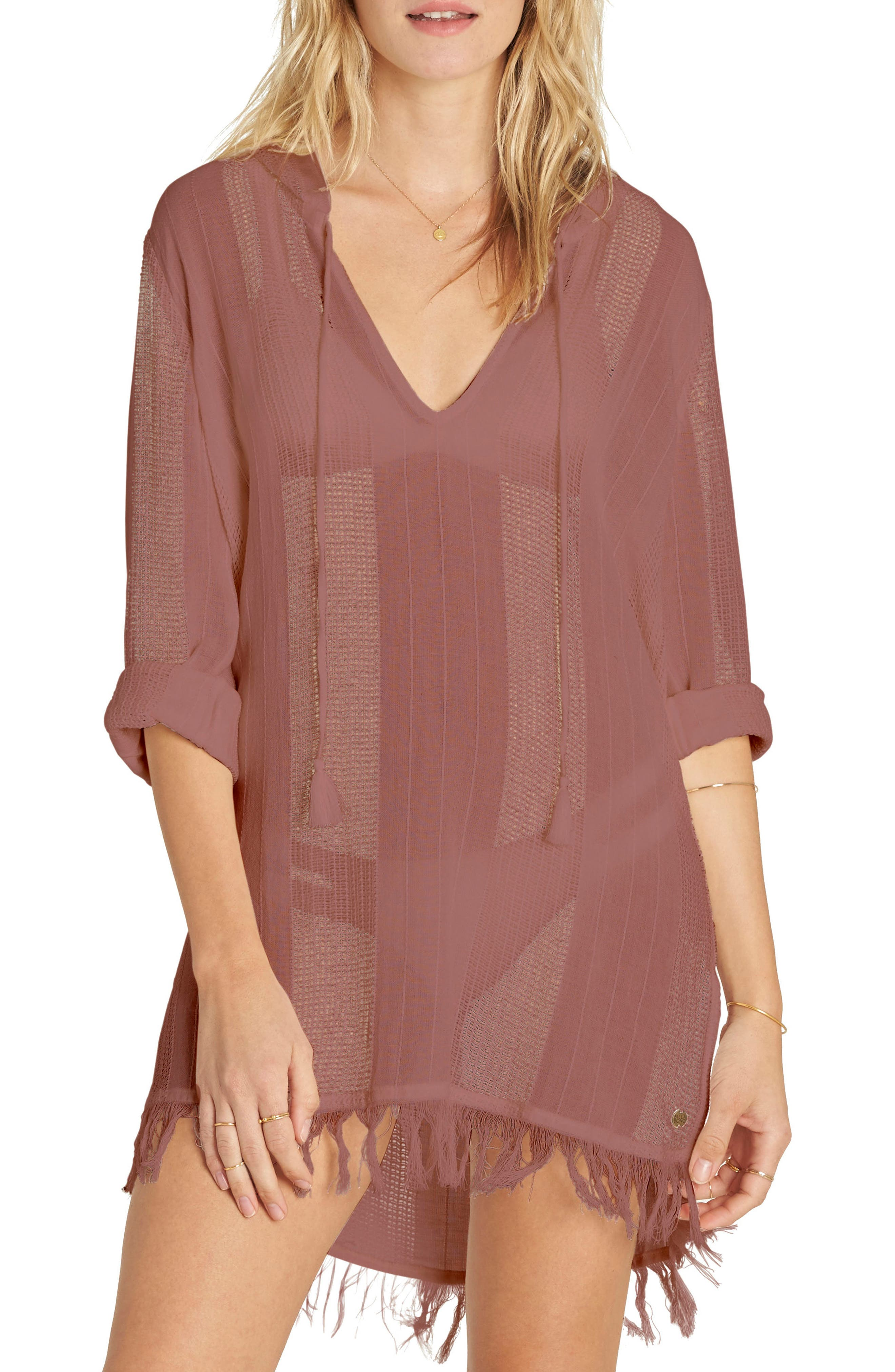 Babe Side Cover-Up Dress,                         Main,                         color, Ash Rose