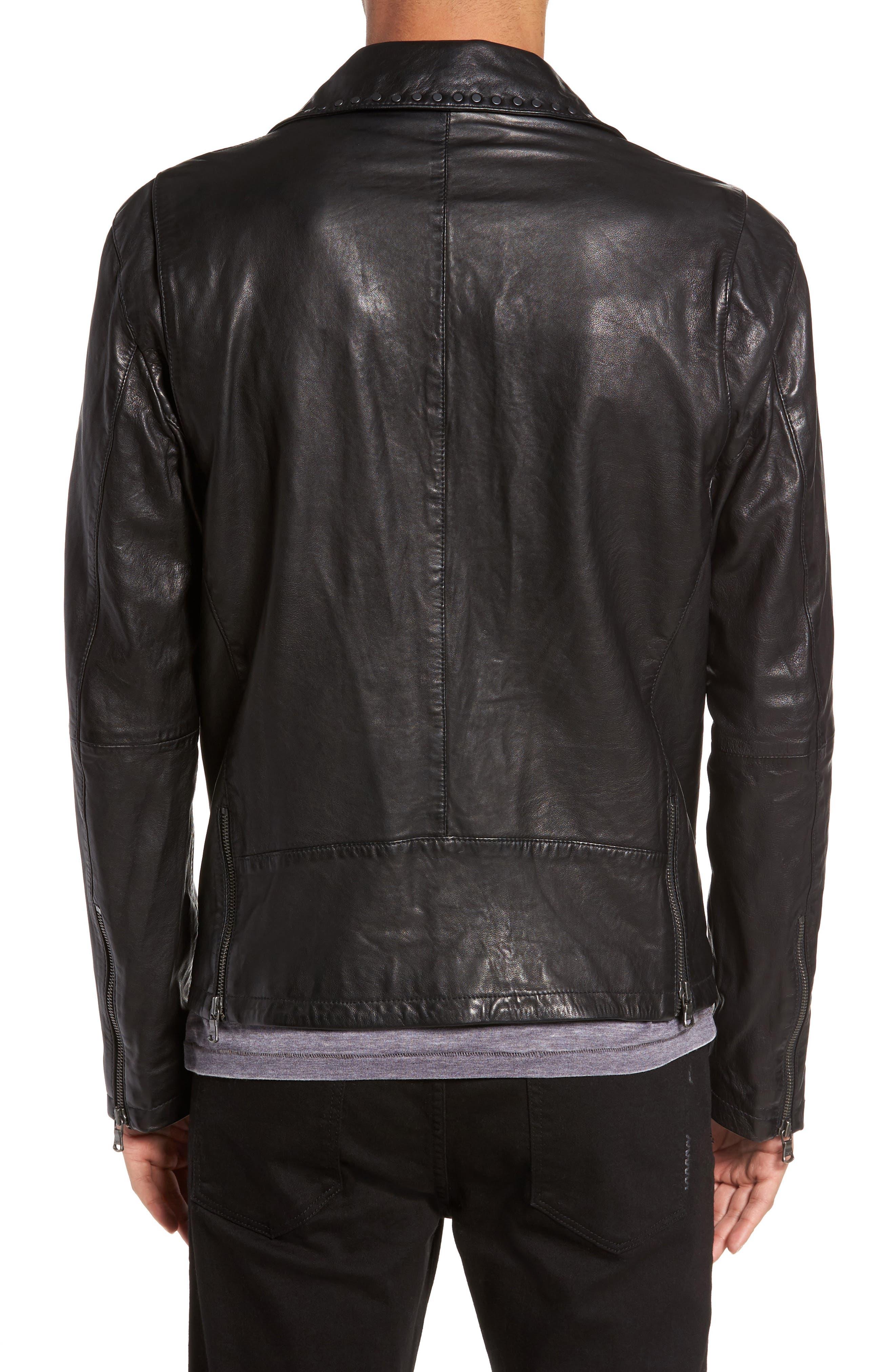 Alternate Image 2  - John Varvatos Star USA Studded Collar Leather Jacket