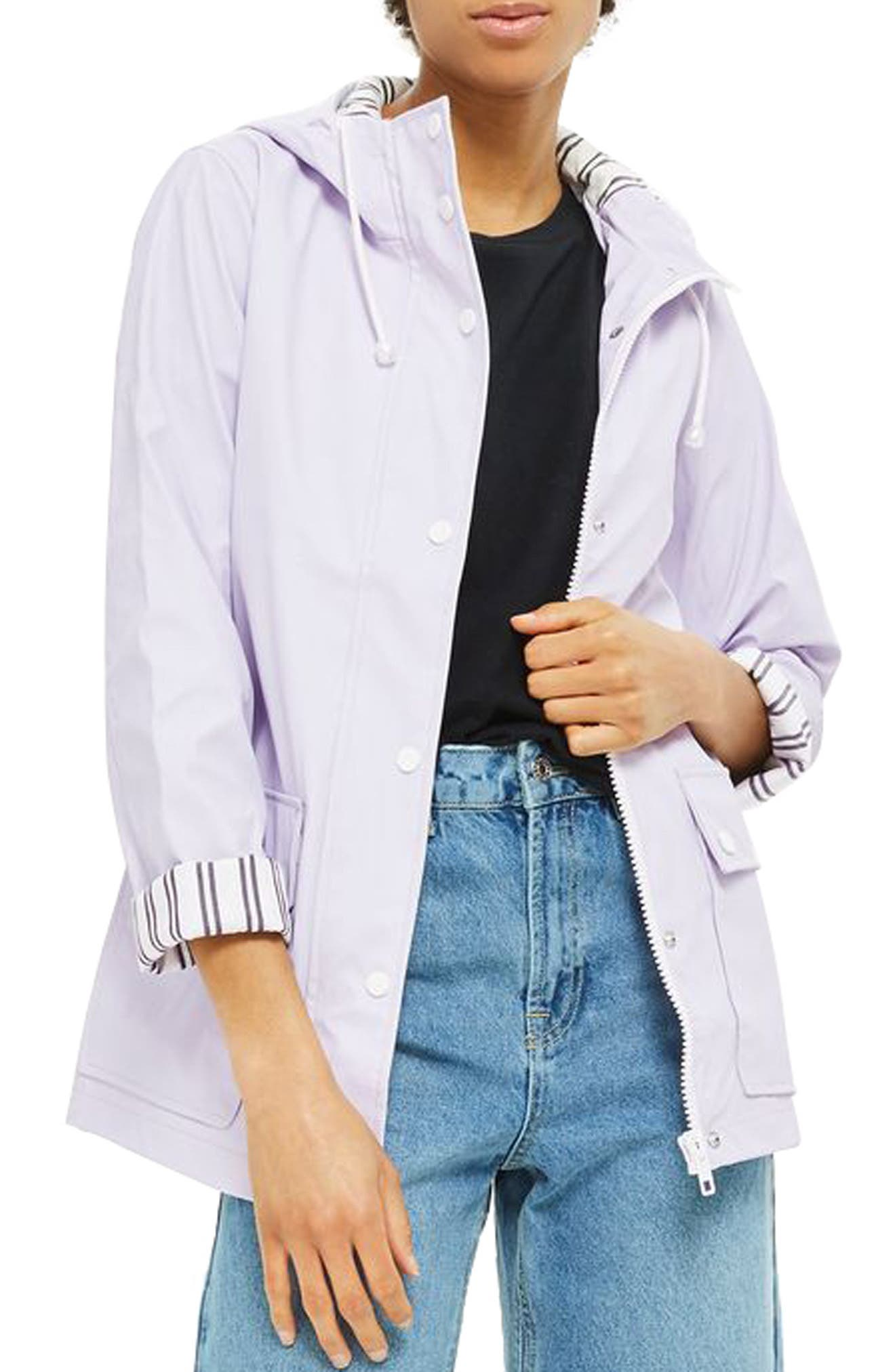 Maisie Rain Mac Jacket,                             Main thumbnail 1, color,                             Lilac