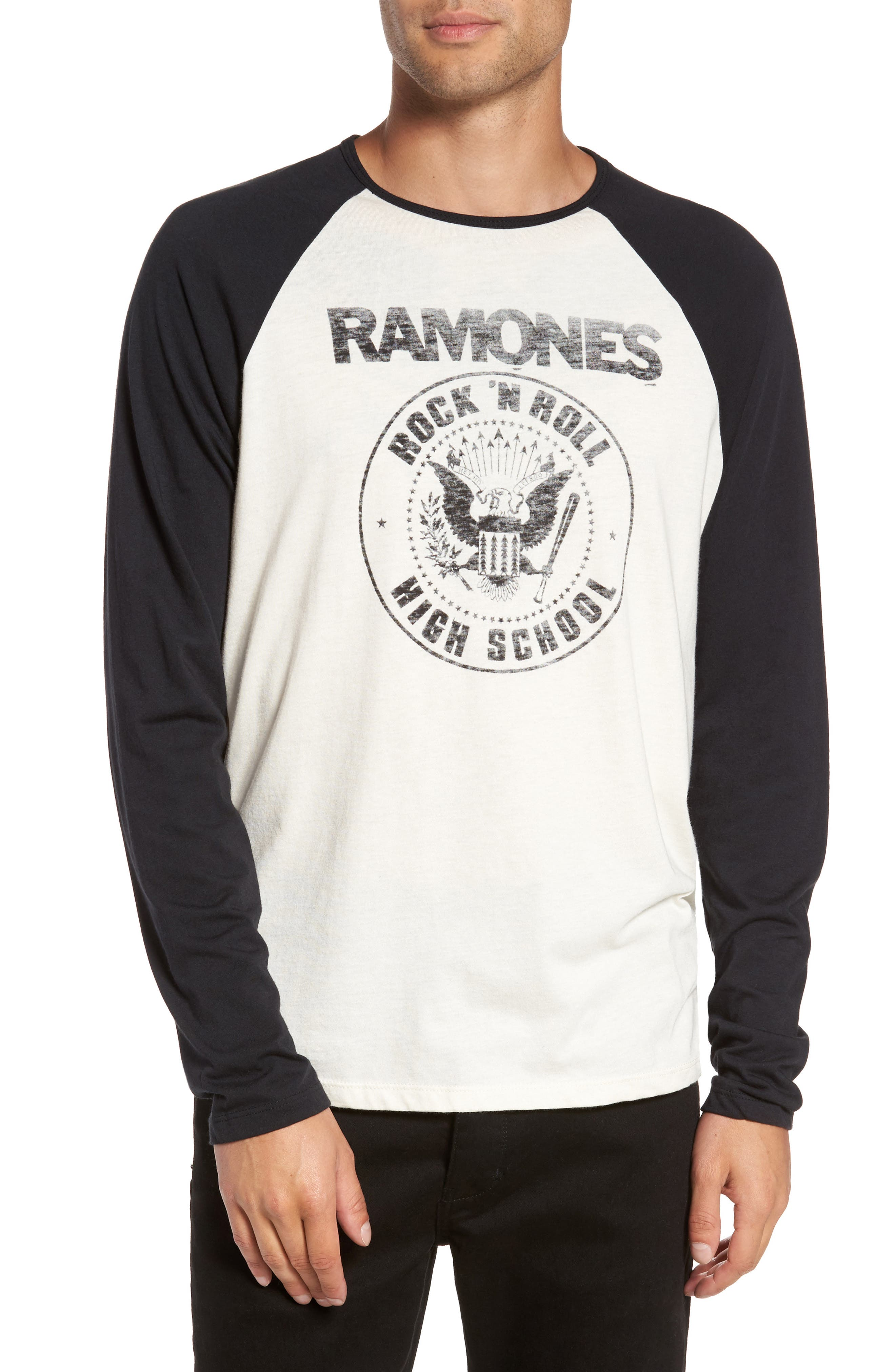 Ramones Rock N Roll High School Graphic T-Shirt,                         Main,                         color, Salt