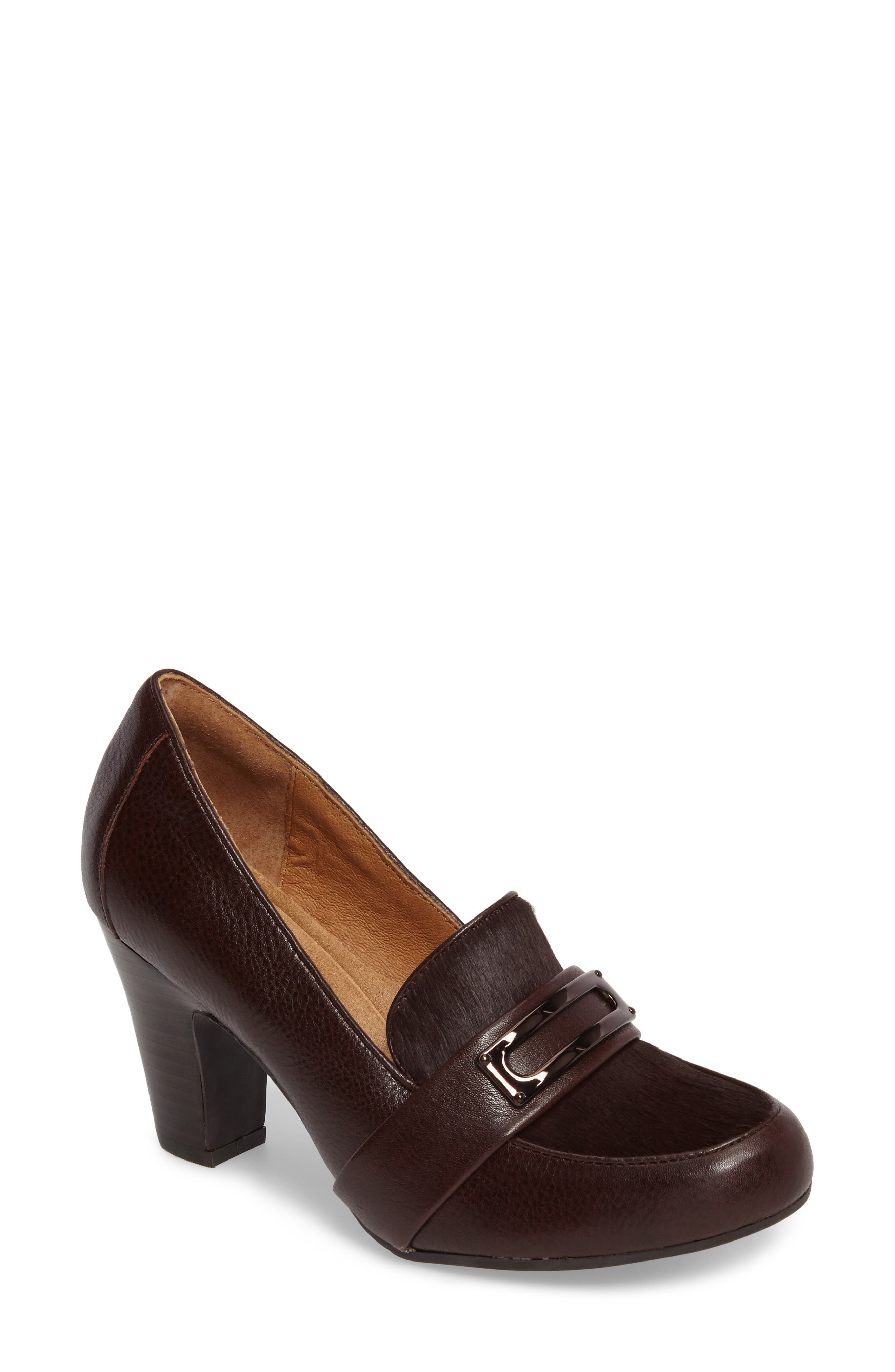 Misty Pump,                         Main,                         color, Mahogany Leather