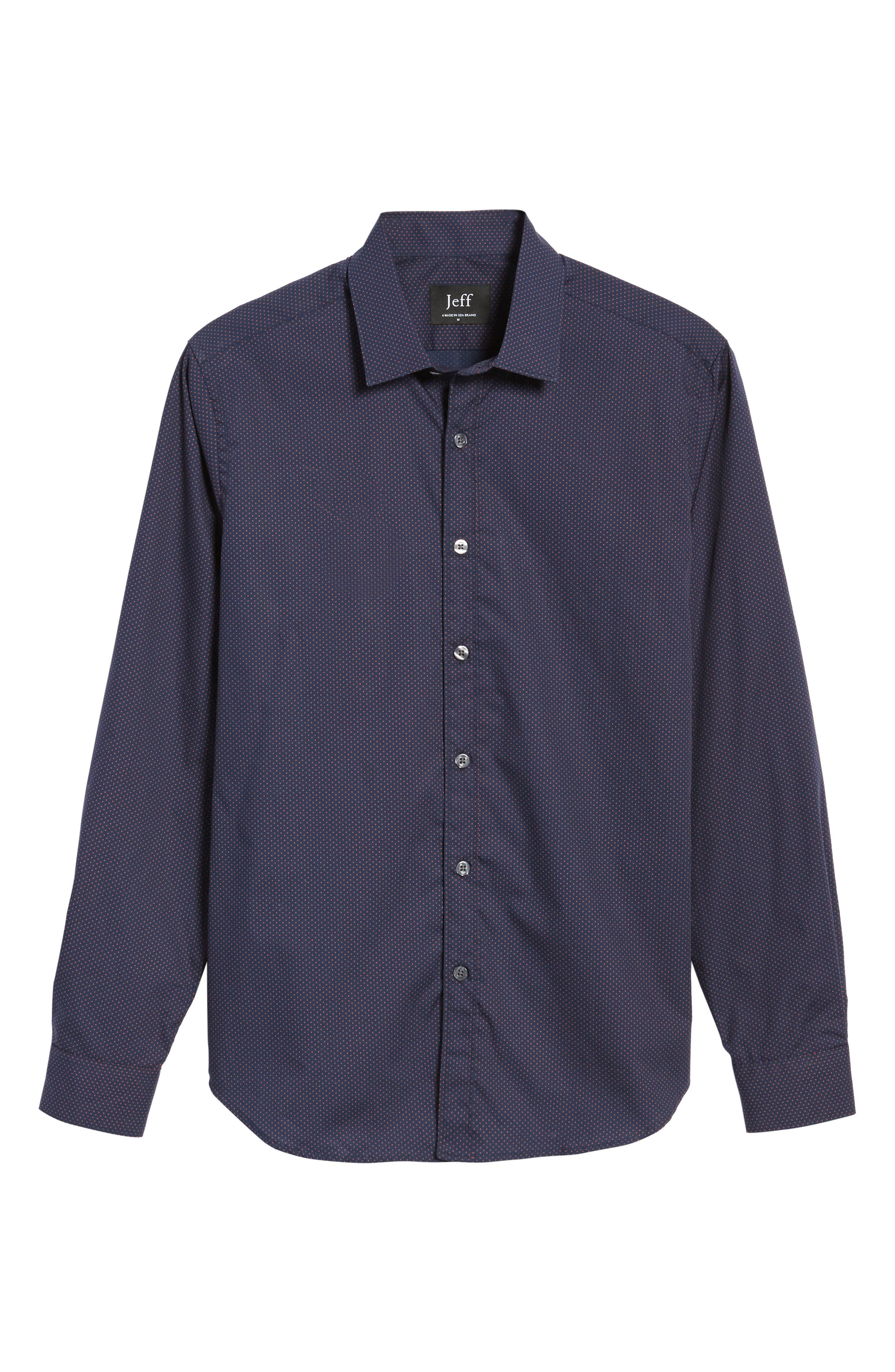 Alternate Image 6  - Jeff Arlington Slim Fit Print Sport Shirt