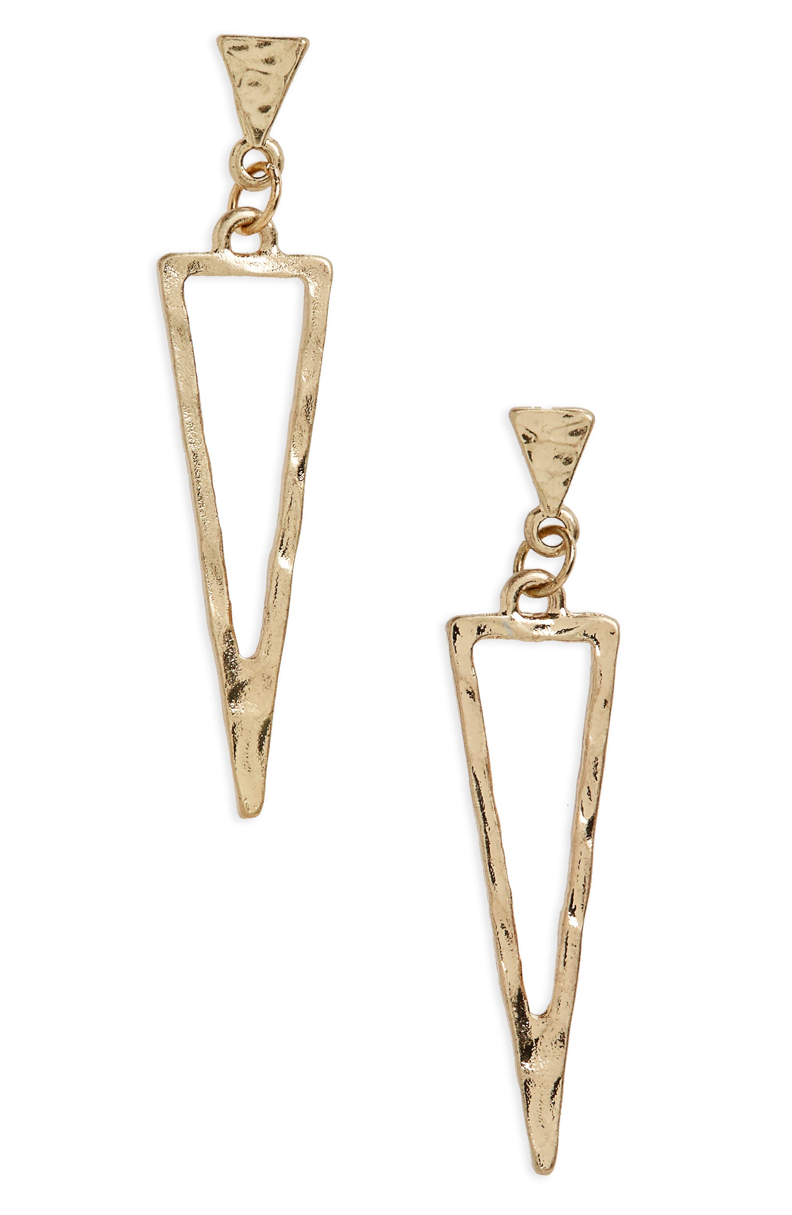 Main Image - Canvas Jewelry Spear Drop Earrings