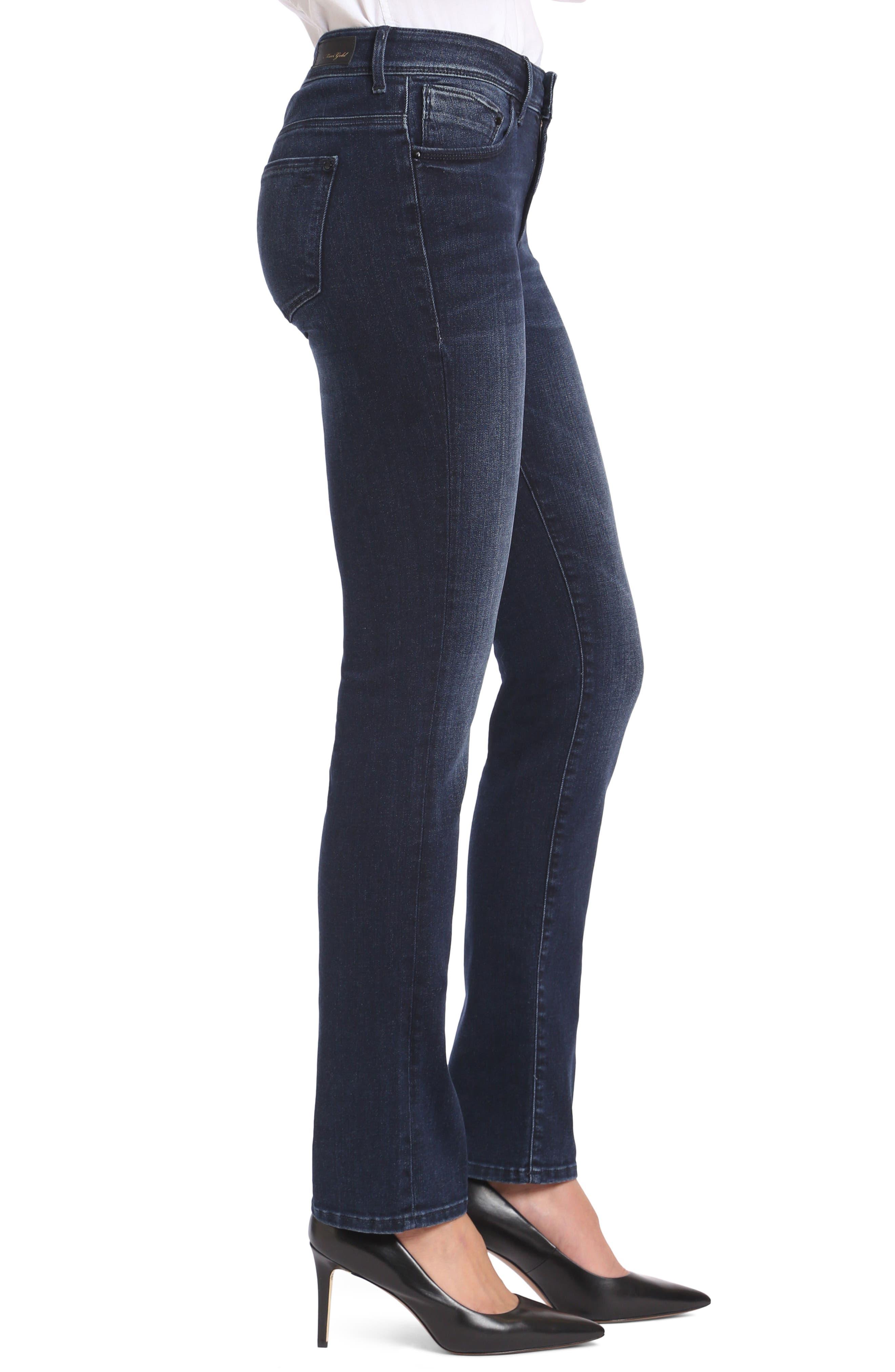 Alternate Image 3  - Mavi Jeans Kendra High Waist Straight Jeans (Deep Ink Gold)