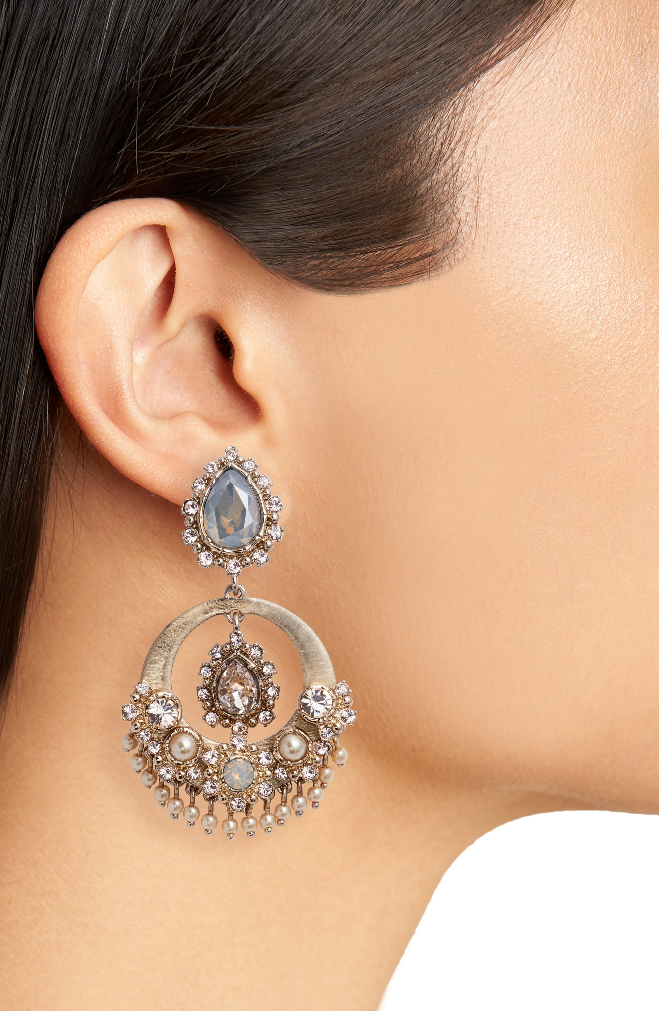 Alternate Image 2  - Marchesa Crystal Drop Earrings