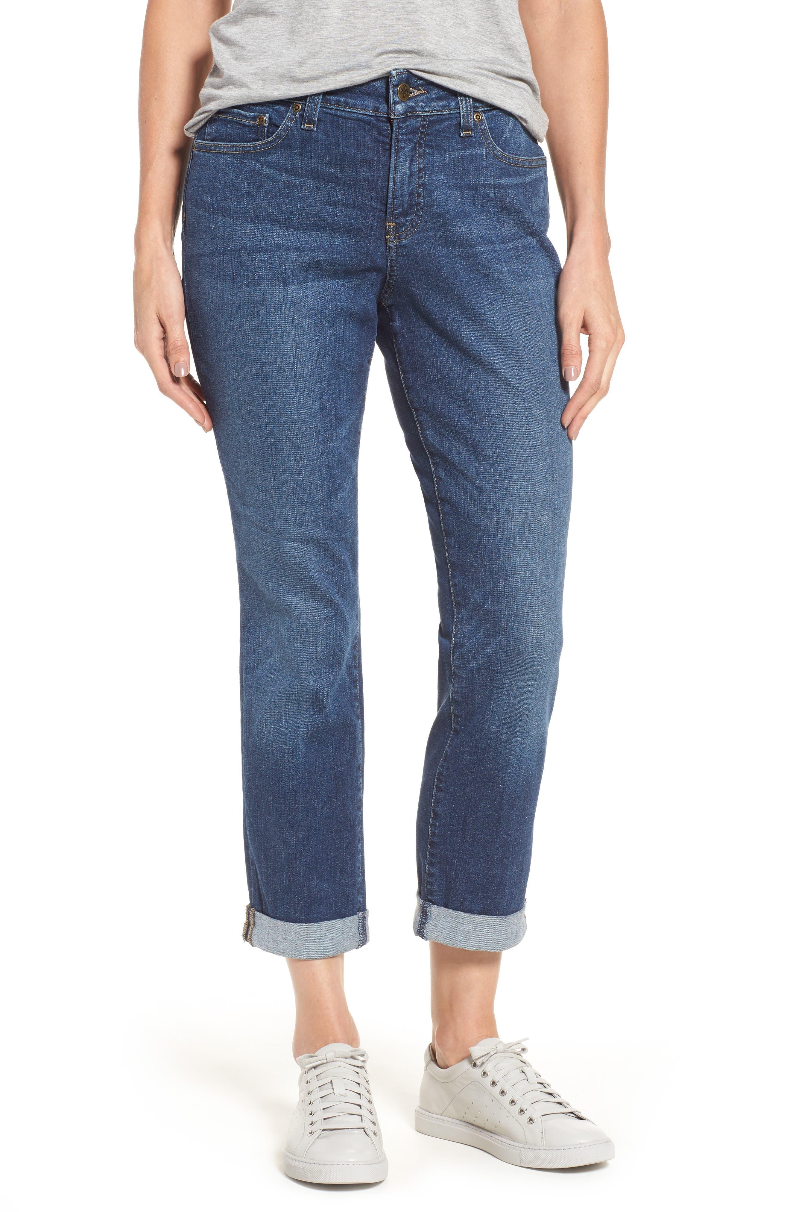 Stretch Boyfriend Jeans,                         Main,                         color, Pioneer