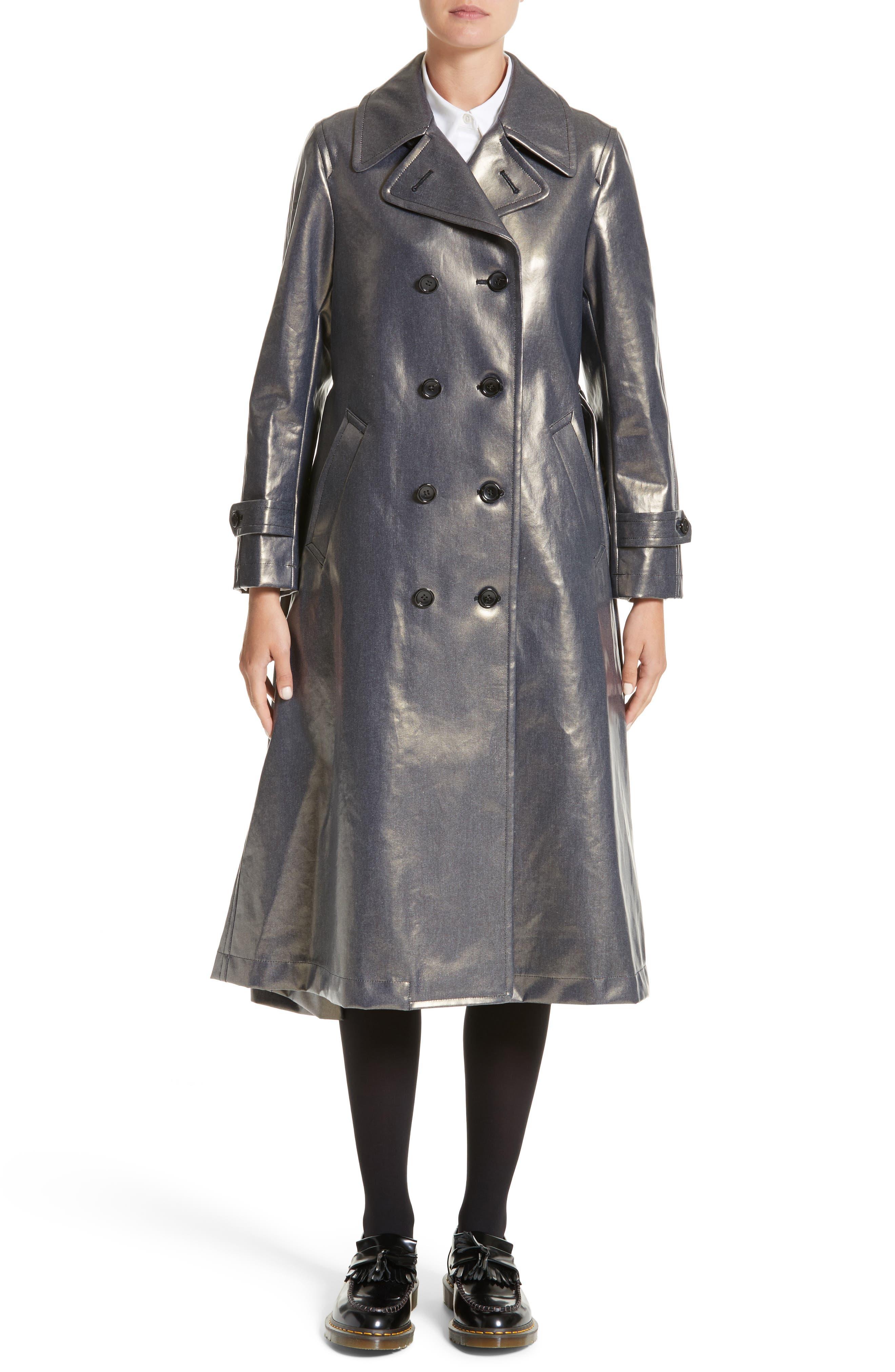 Double Breasted Coat,                         Main,                         color, Indigo