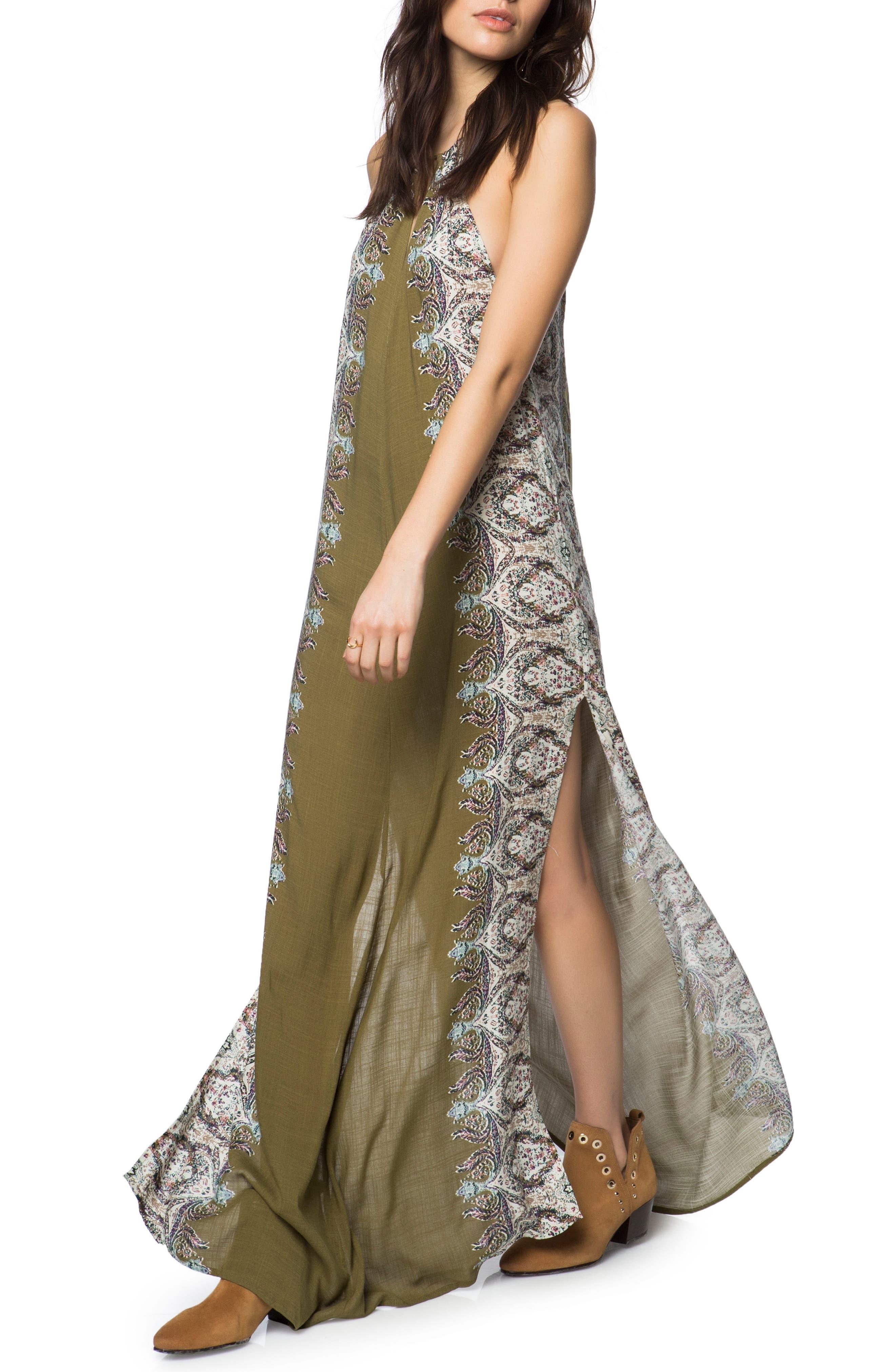 Brinkley Maxi Dress,                         Main,                         color, Military