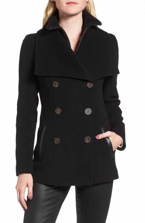 Mackage Norissa Double-Breasted Wool Blend Peacoat - Women's Peacoat Coats & Jackets Nordstrom Nordstrom