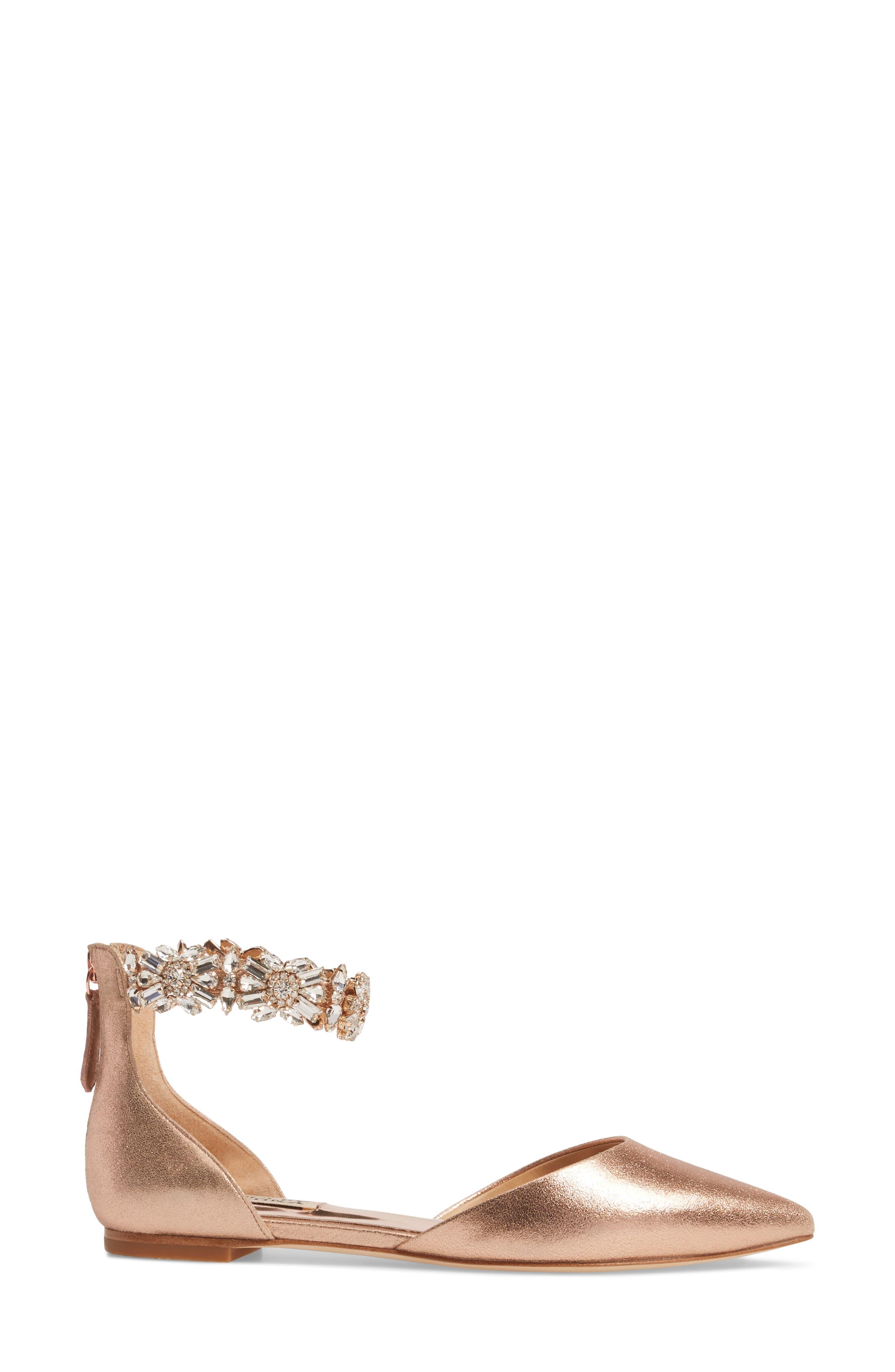 Alternate Image 3  - Badgley Mischka Morgen Ankle Strap Flat (Women)