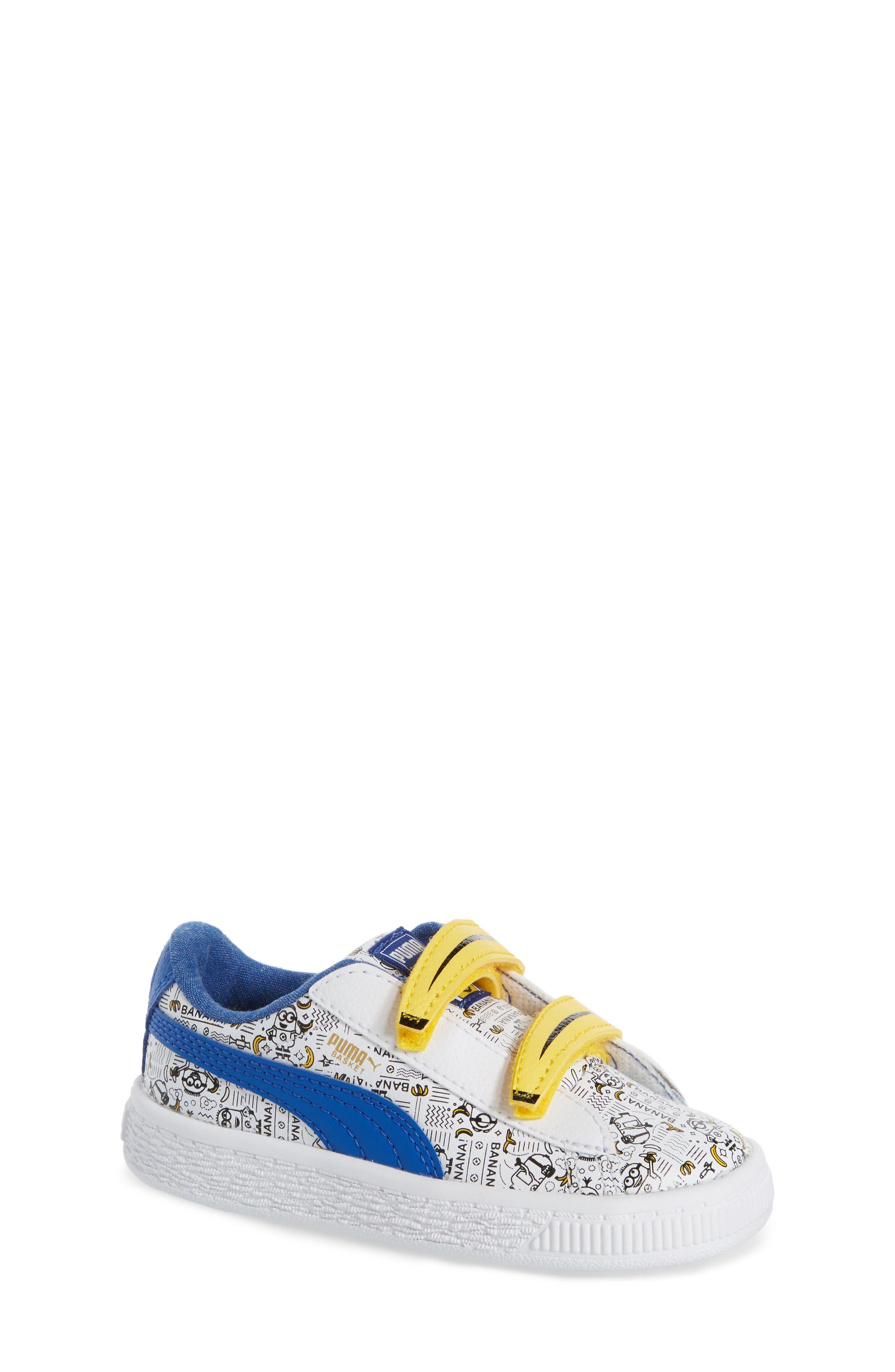 PUMA Minions® Basket V Sneaker (Baby, Walker & Toddler)