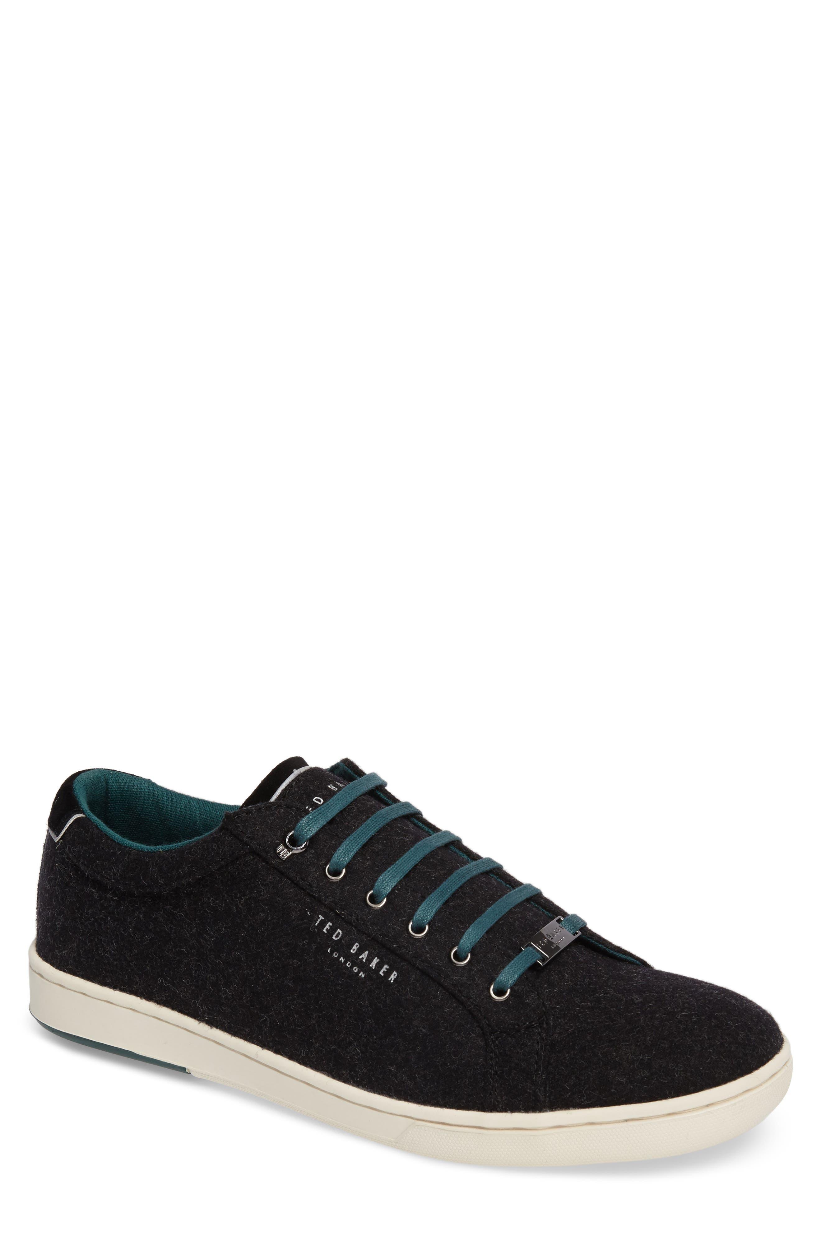 Minem 3 Sneaker,                         Main,                         color, Black Wool