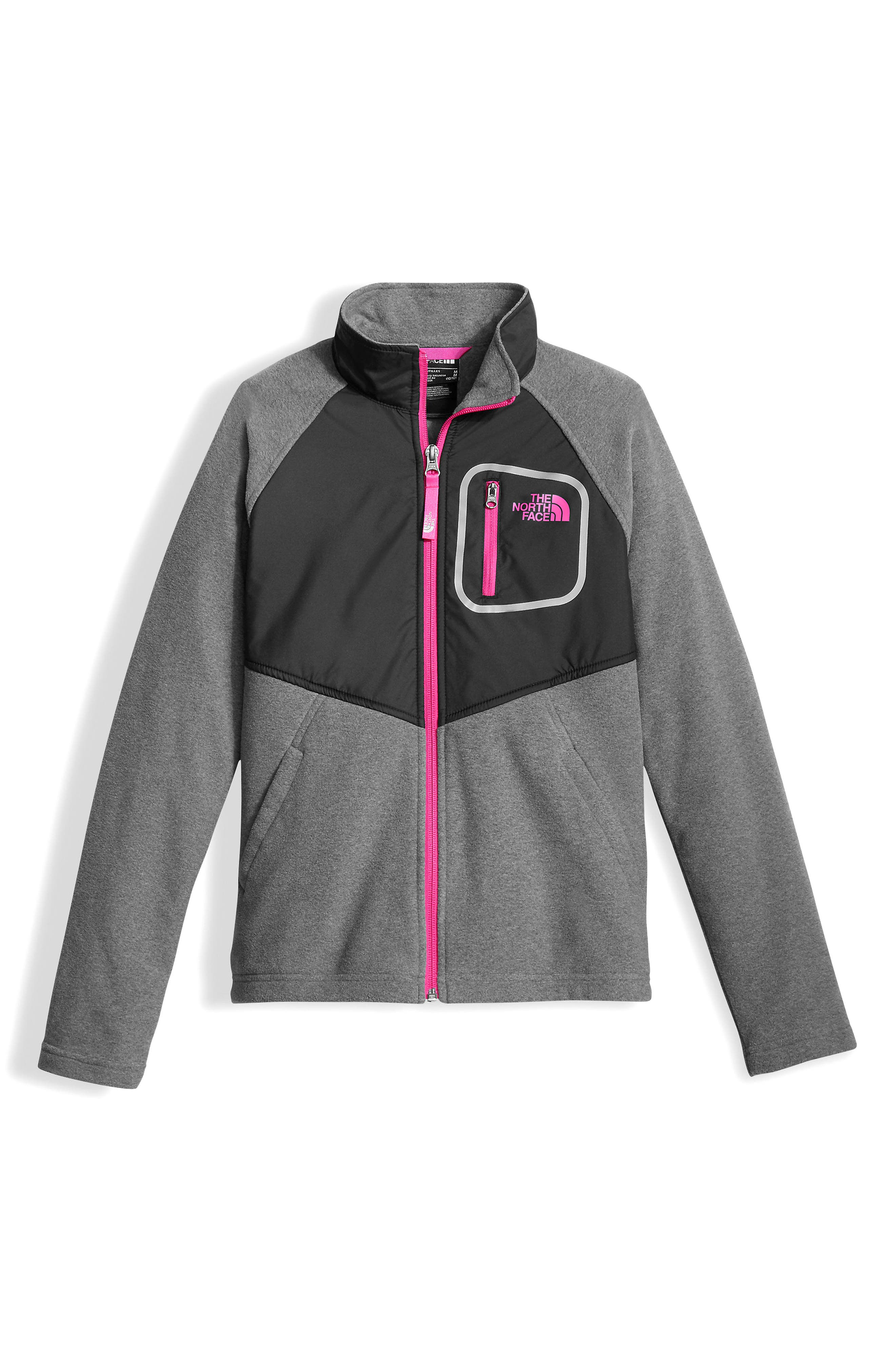 Main Image - The North Face Glacier Water Resistant Track Jacket (Big Girls)