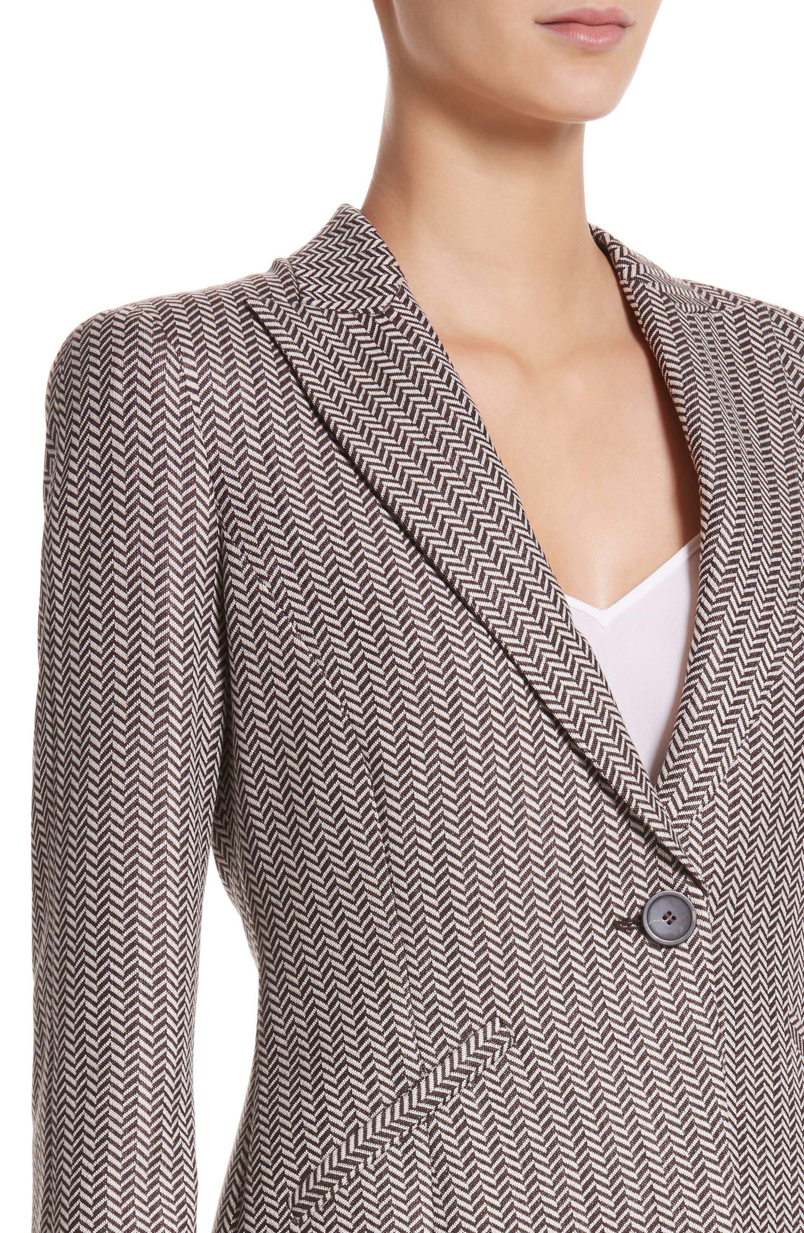 Alternate Image 4  - Armani Collezioni Mini Herringbone Jacket