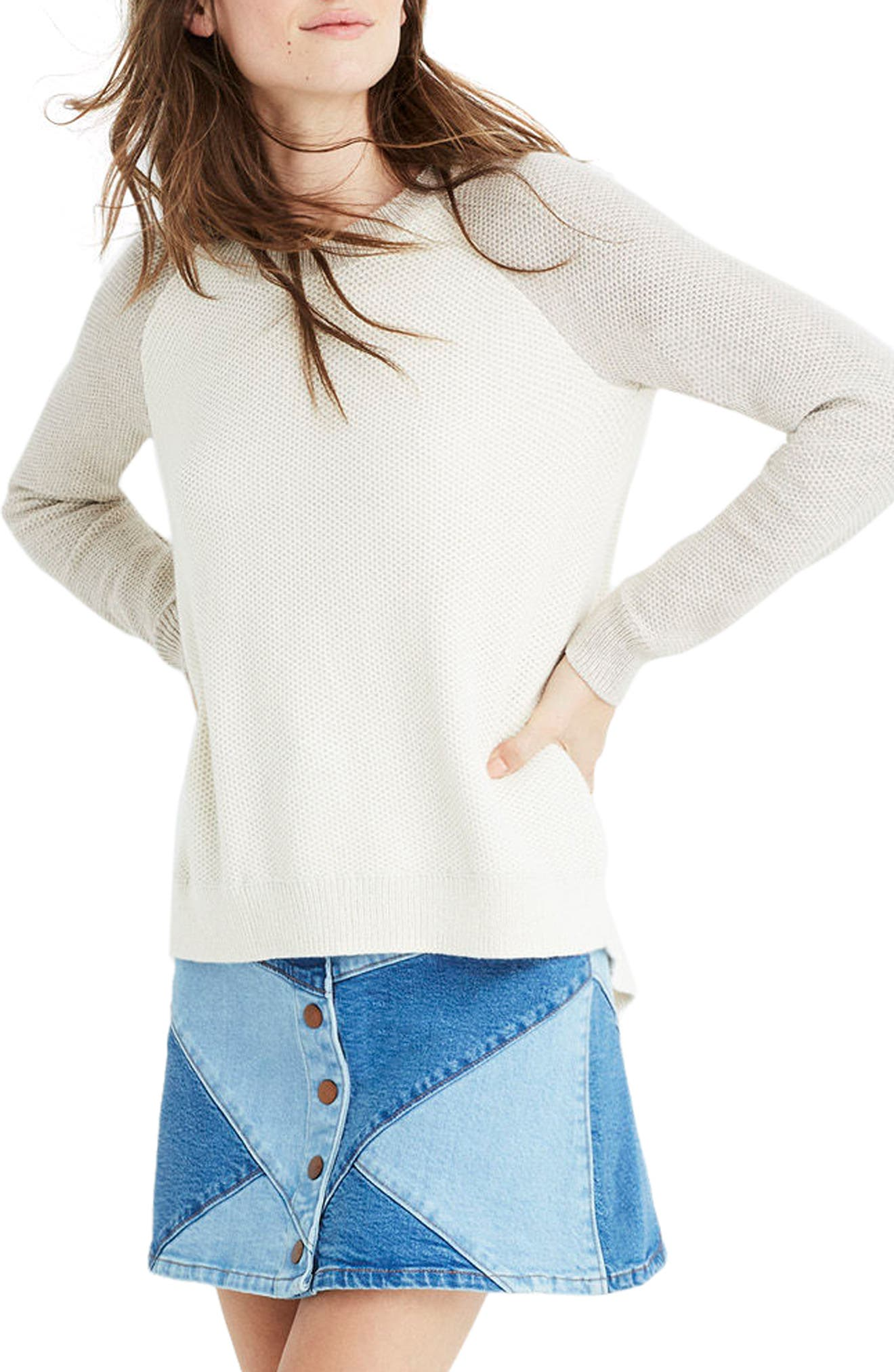 Crossback Sweater,                             Main thumbnail 1, color,                             Heather Moonstone