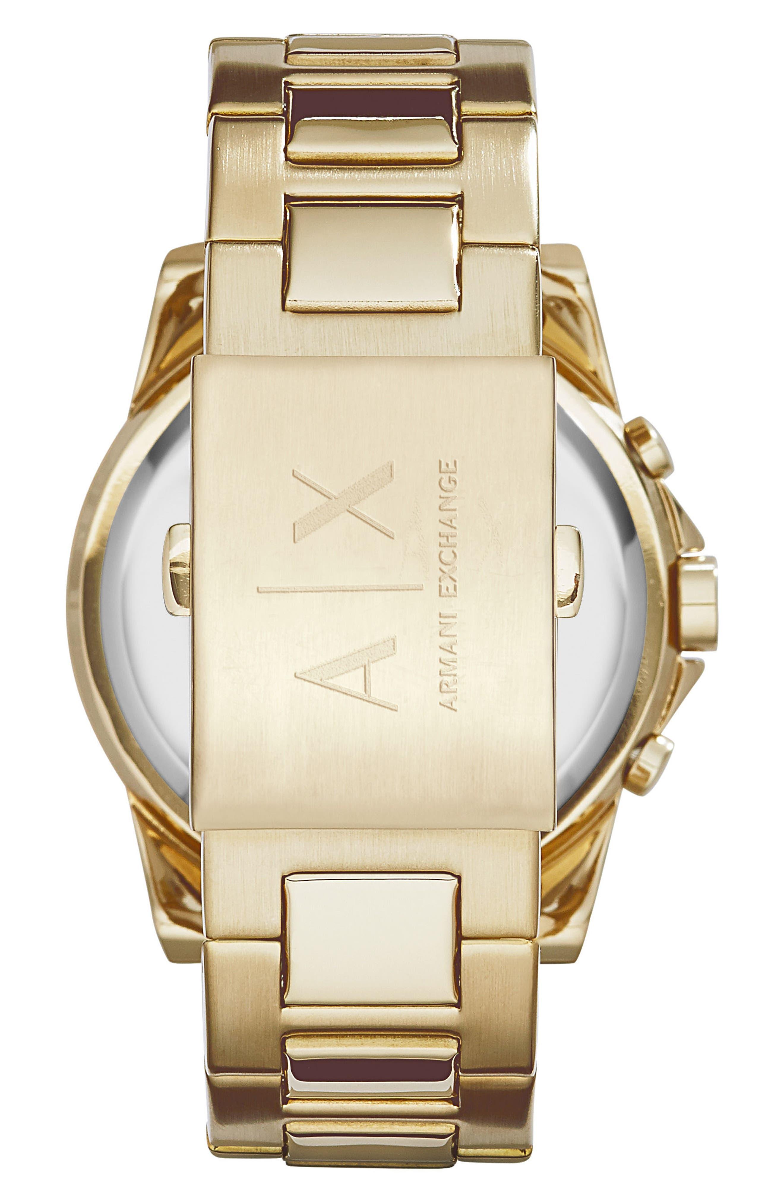 Chronograph Bracelet Watch, 45mm,                             Alternate thumbnail 2, color,                             Gold