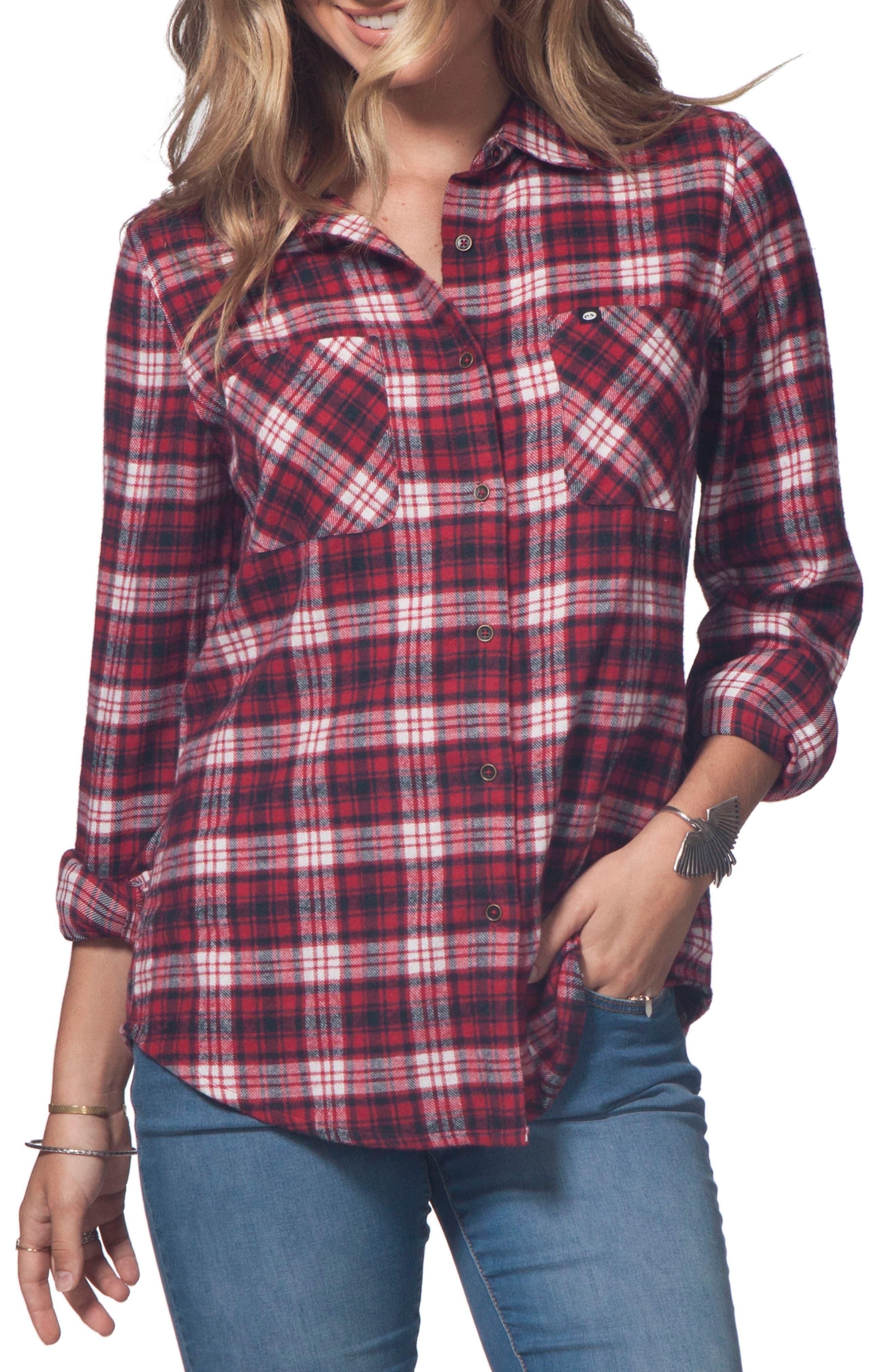 Main Image - Rip Curl Bonfire Flannel Top