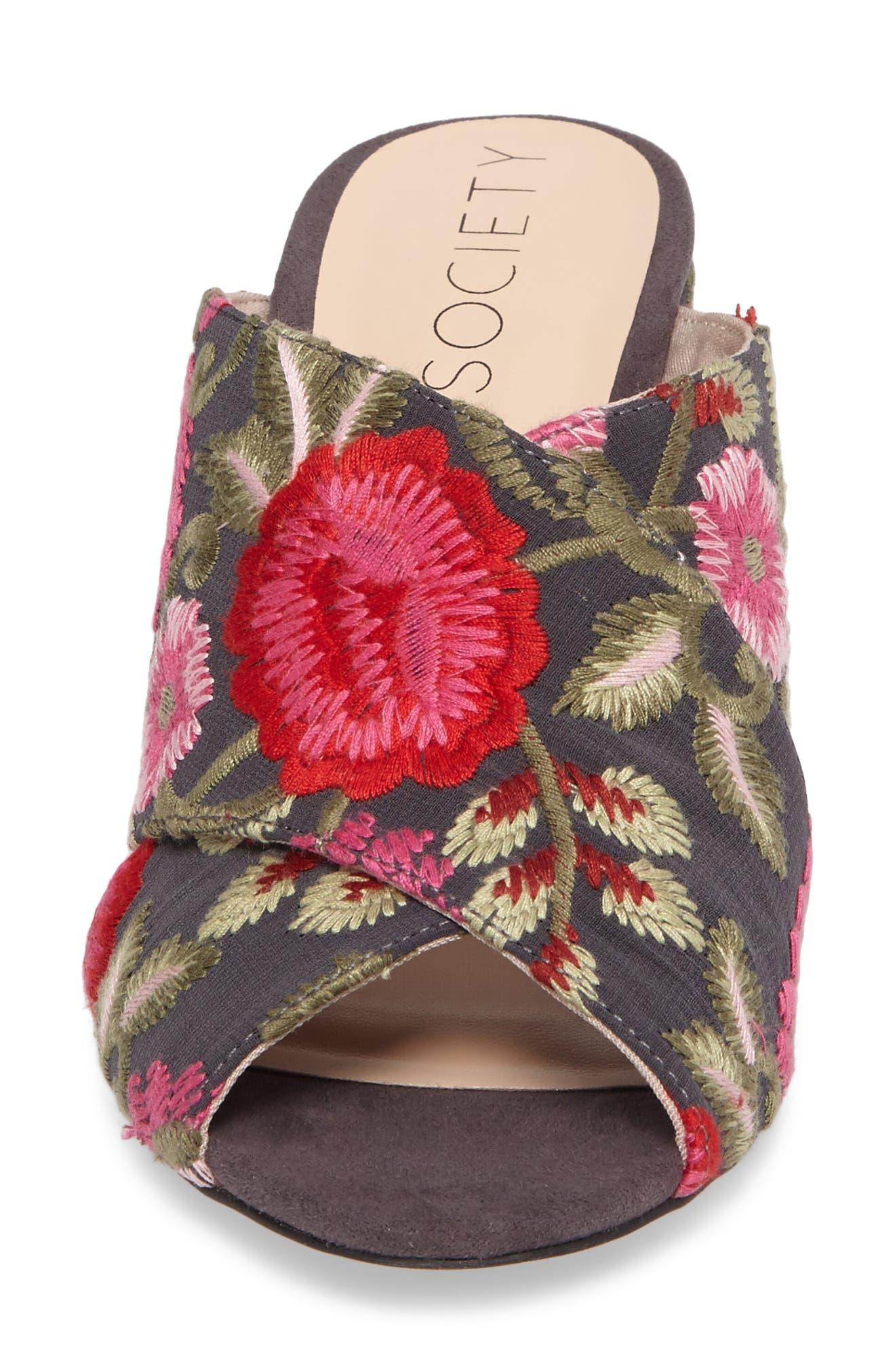 Alternate Image 4  - Sole Society Luella Flower Embroidered Slide (Women)
