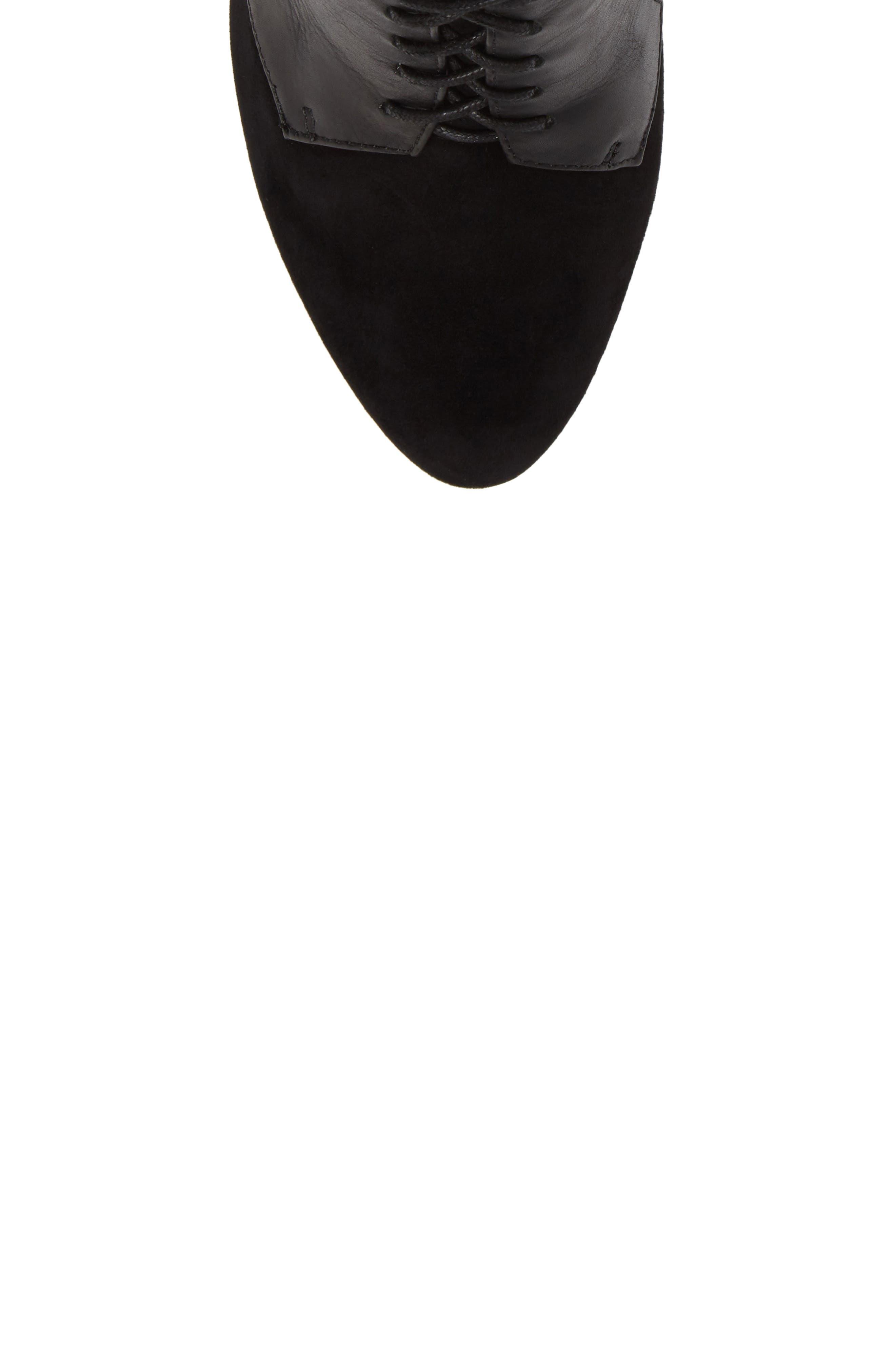 Ionia Lace-Up Pump,                             Alternate thumbnail 5, color,                             Black Suede