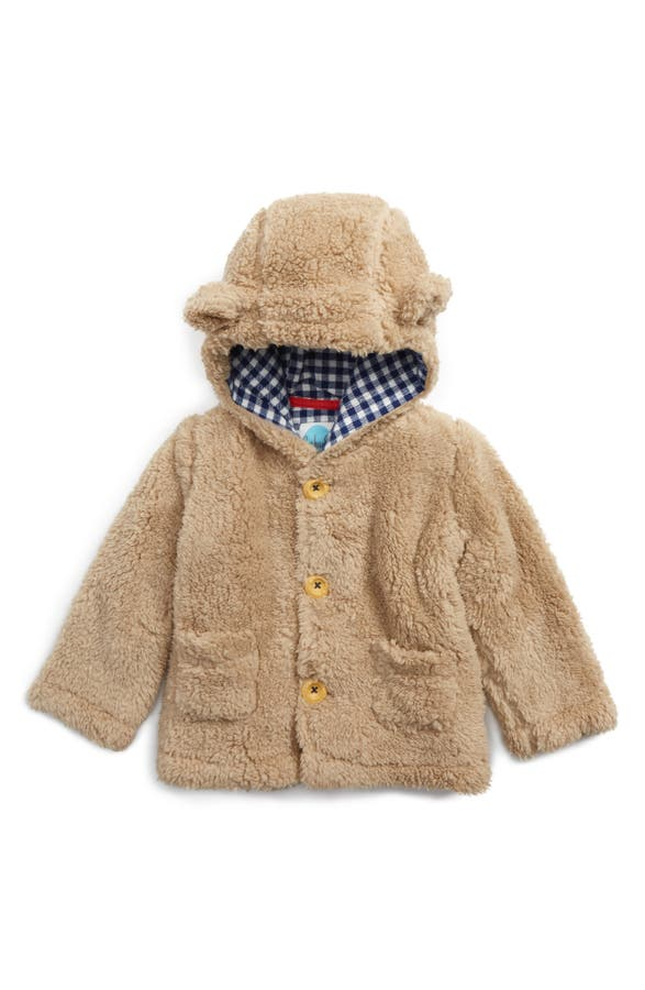 Mini Boden Cozy Animal Faux Shearling Jacket (Baby & Toddler ...