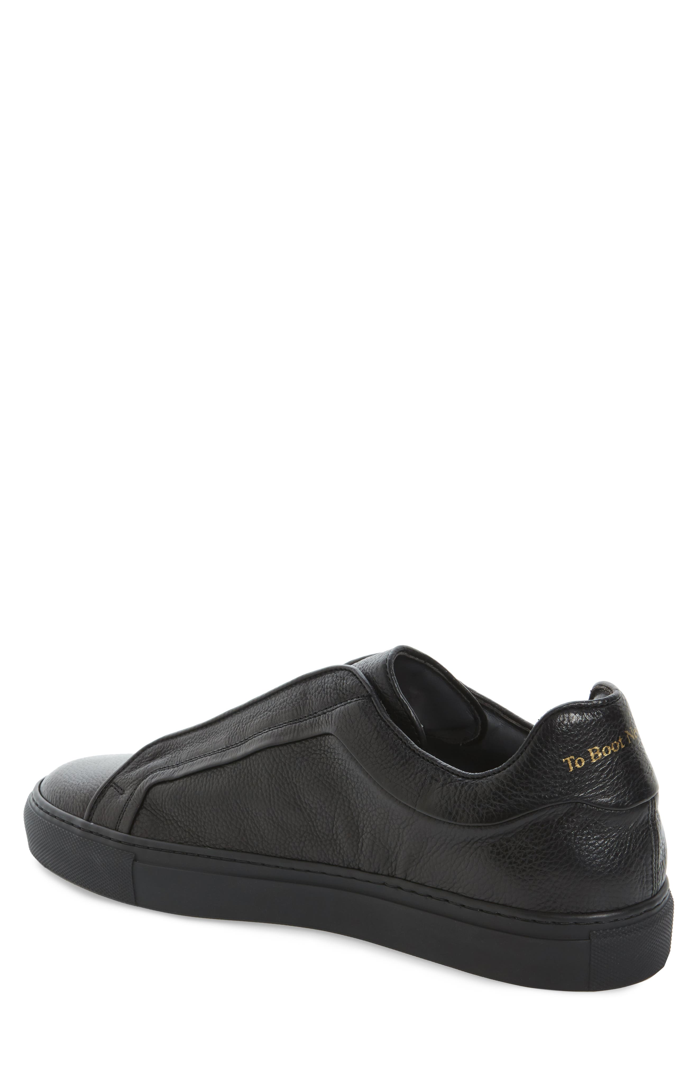Cliff Sneaker,                             Alternate thumbnail 2, color,                             Black Leather