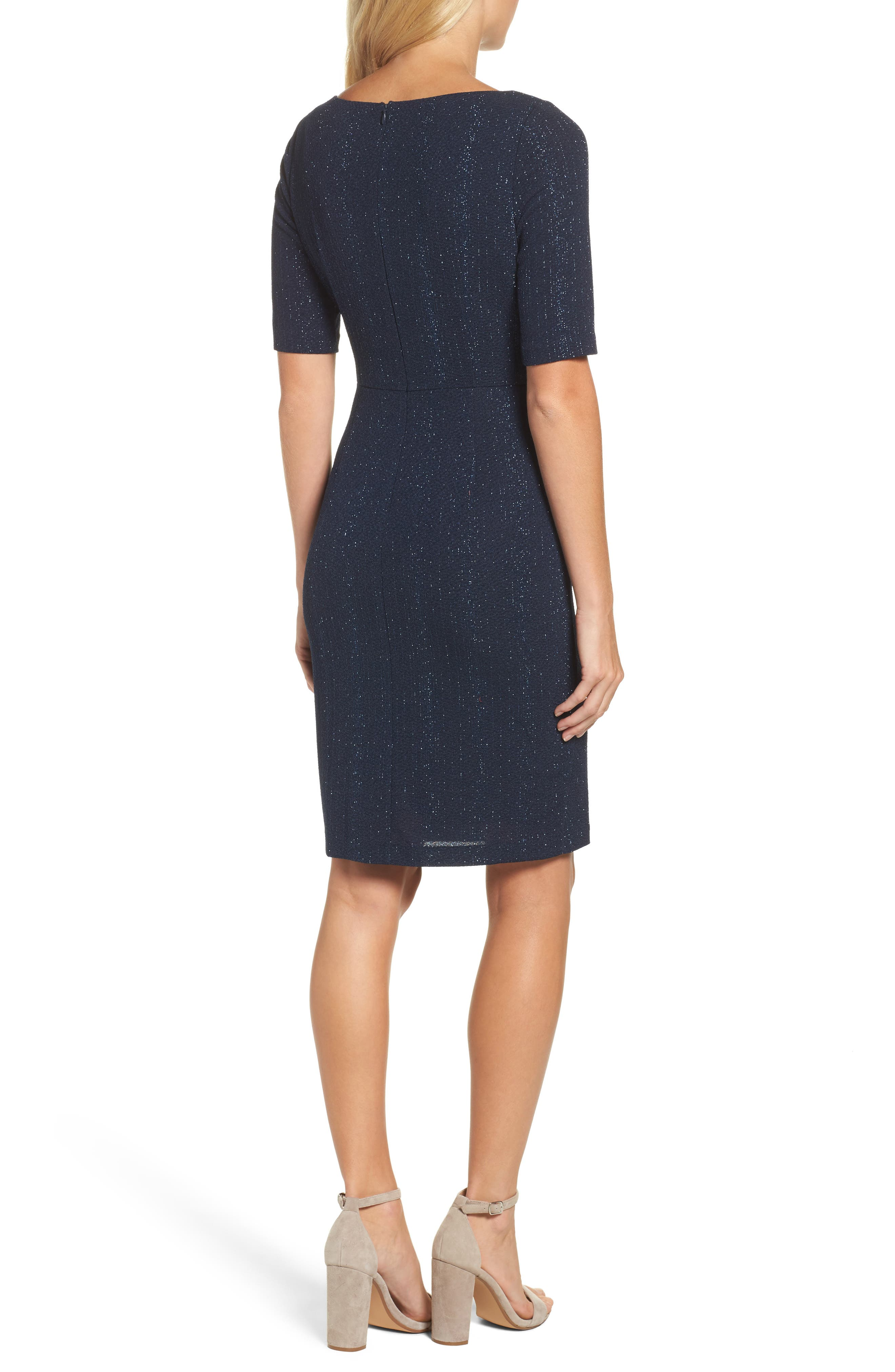 Alternate Image 2  - Adrianna Papell Glitter Knit Sheath Dress