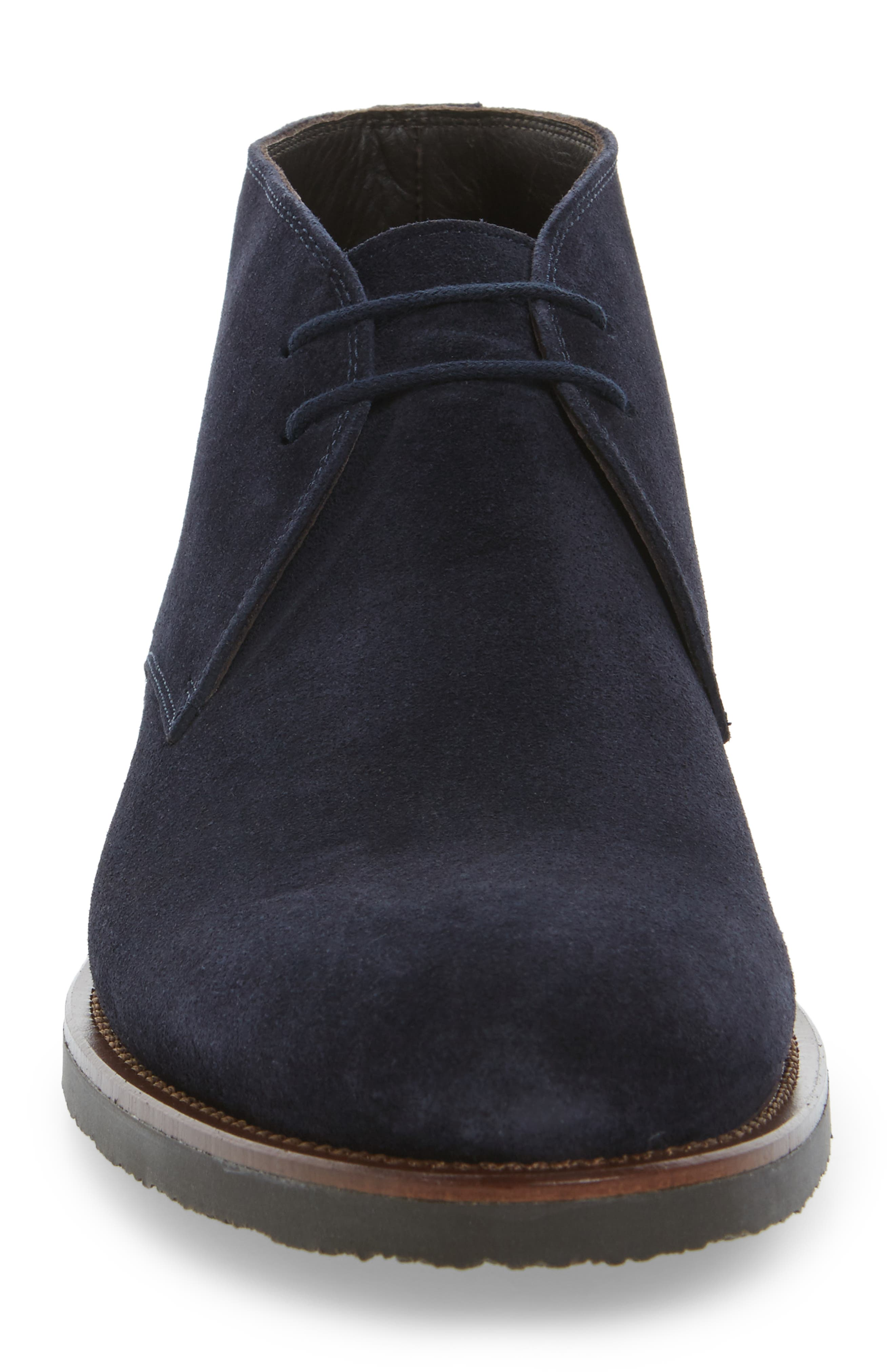 Franklin Chukka Boot,                             Alternate thumbnail 4, color,                             Blue Suede