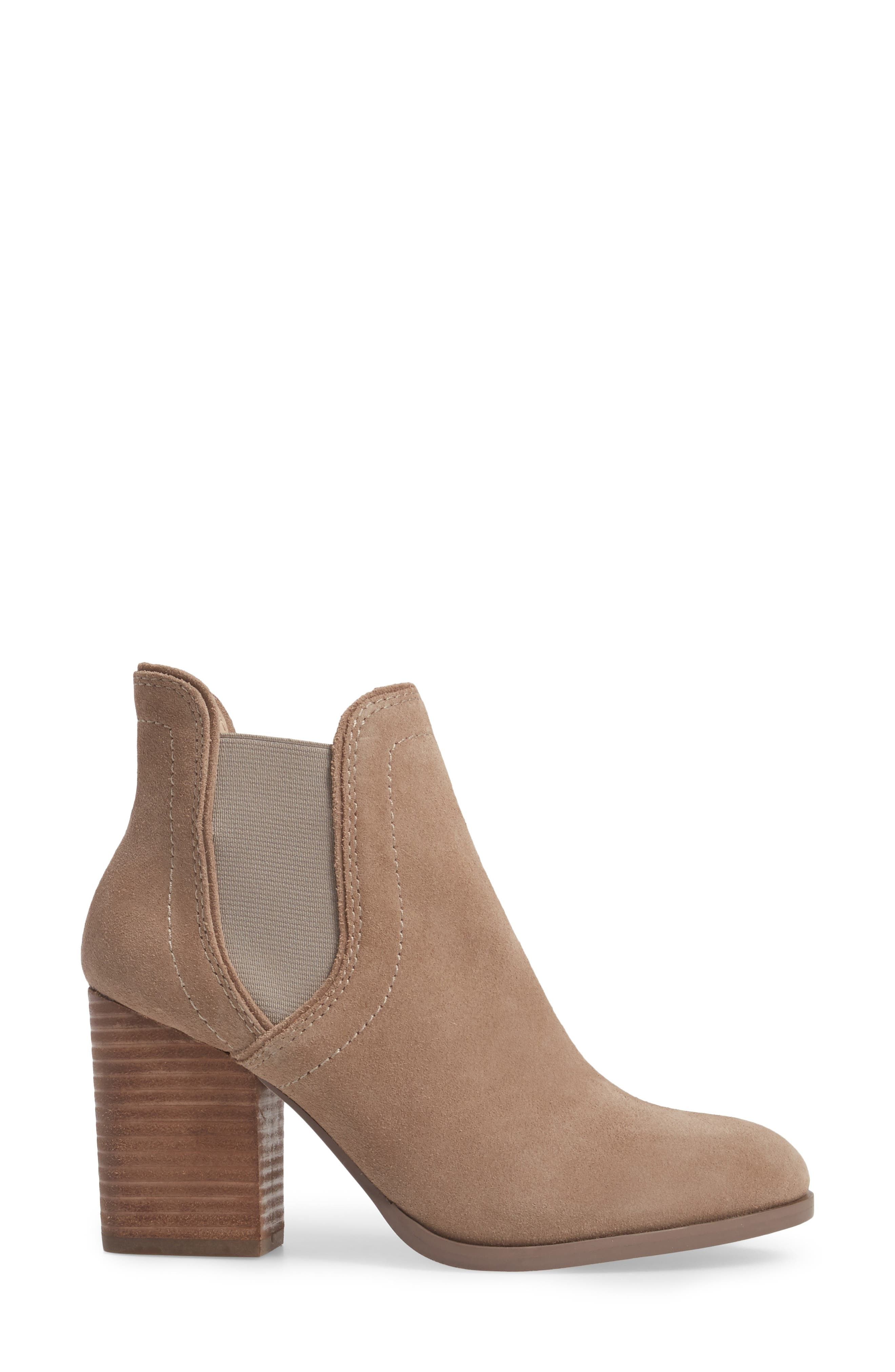 Carrillo Bootie,                             Alternate thumbnail 3, color,                             Taupe