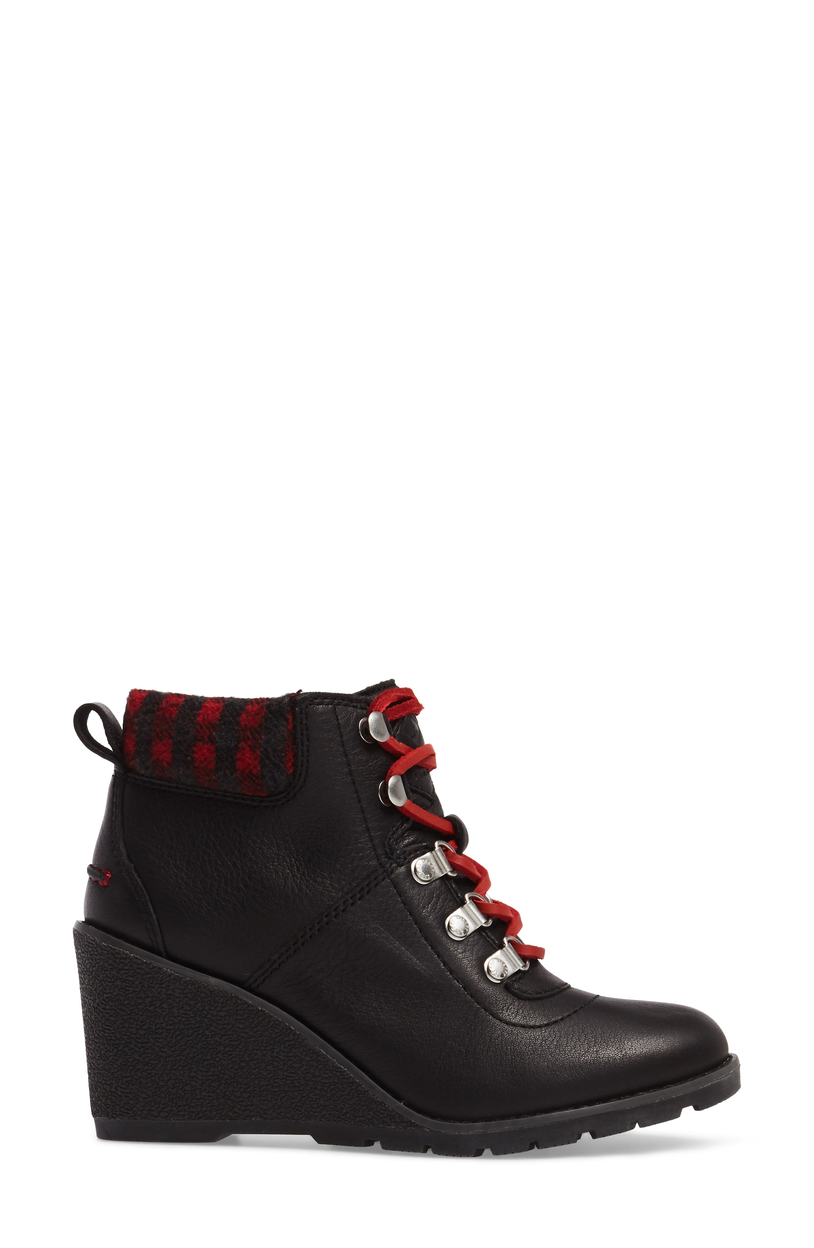 Top-Sider<sup>®</sup> Celeste Bliss Wedge Boot,                             Alternate thumbnail 3, color,                             Black Leather