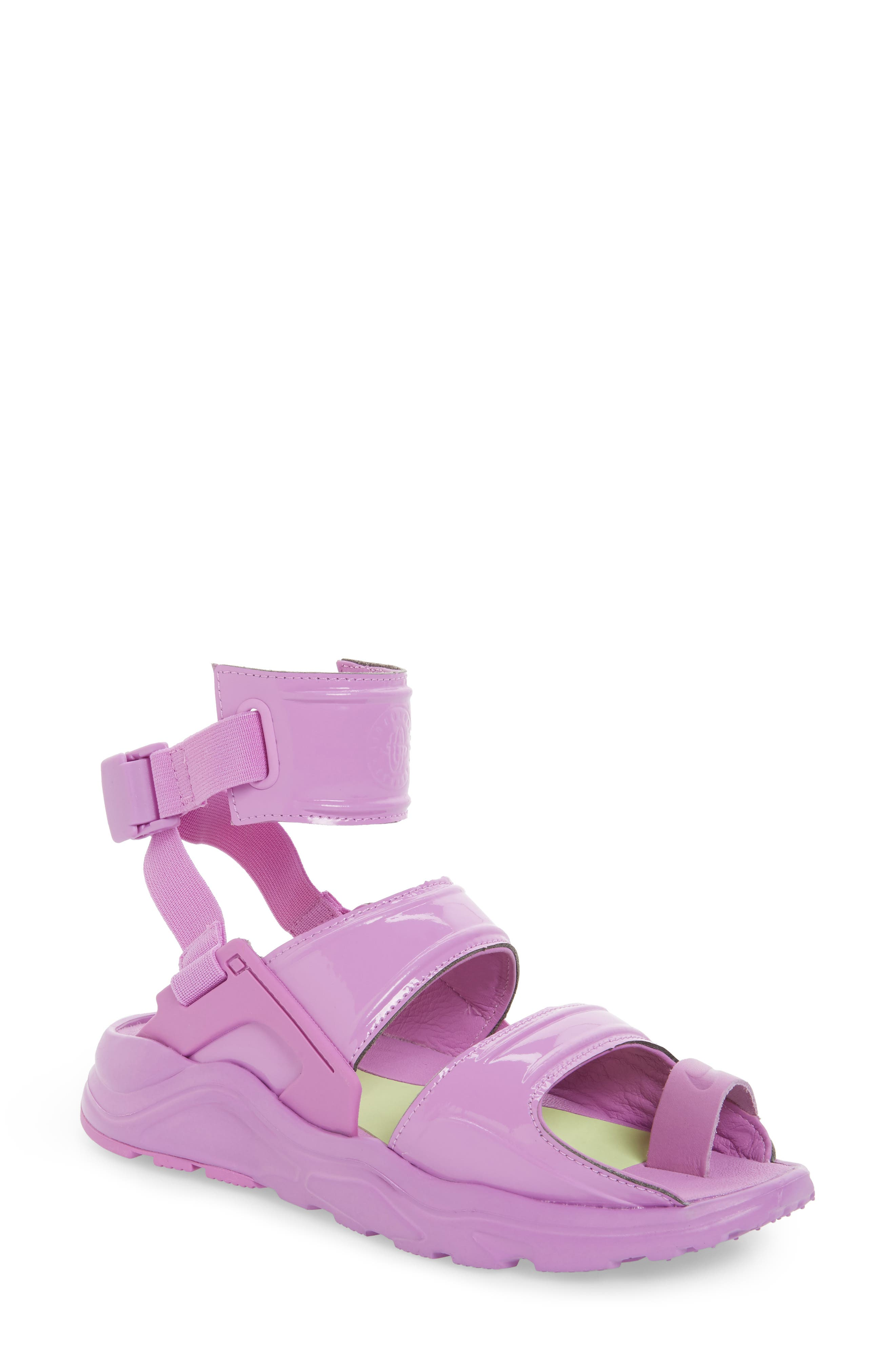 Air Huarache Gladiator Sandal,                         Main,                         color, Fuchsia Glow