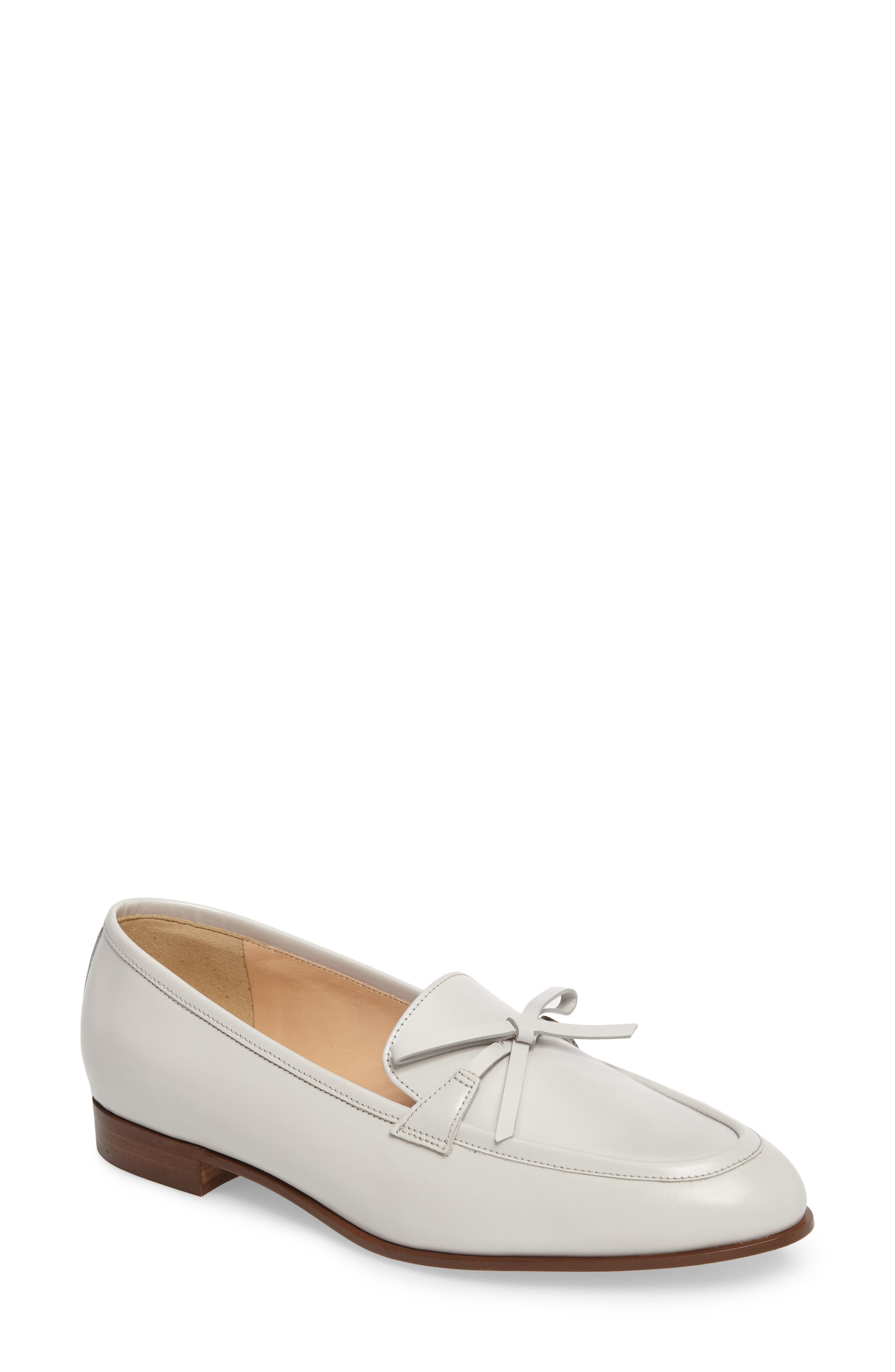 Bow Loafer,                             Main thumbnail 1, color,                             Highland Mist Leather