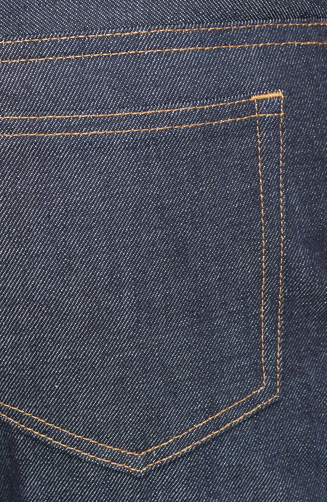 Alternate Image 4  - A.P.C. New Standard Slim Straight Leg Selvedge Jeans (Indigo)