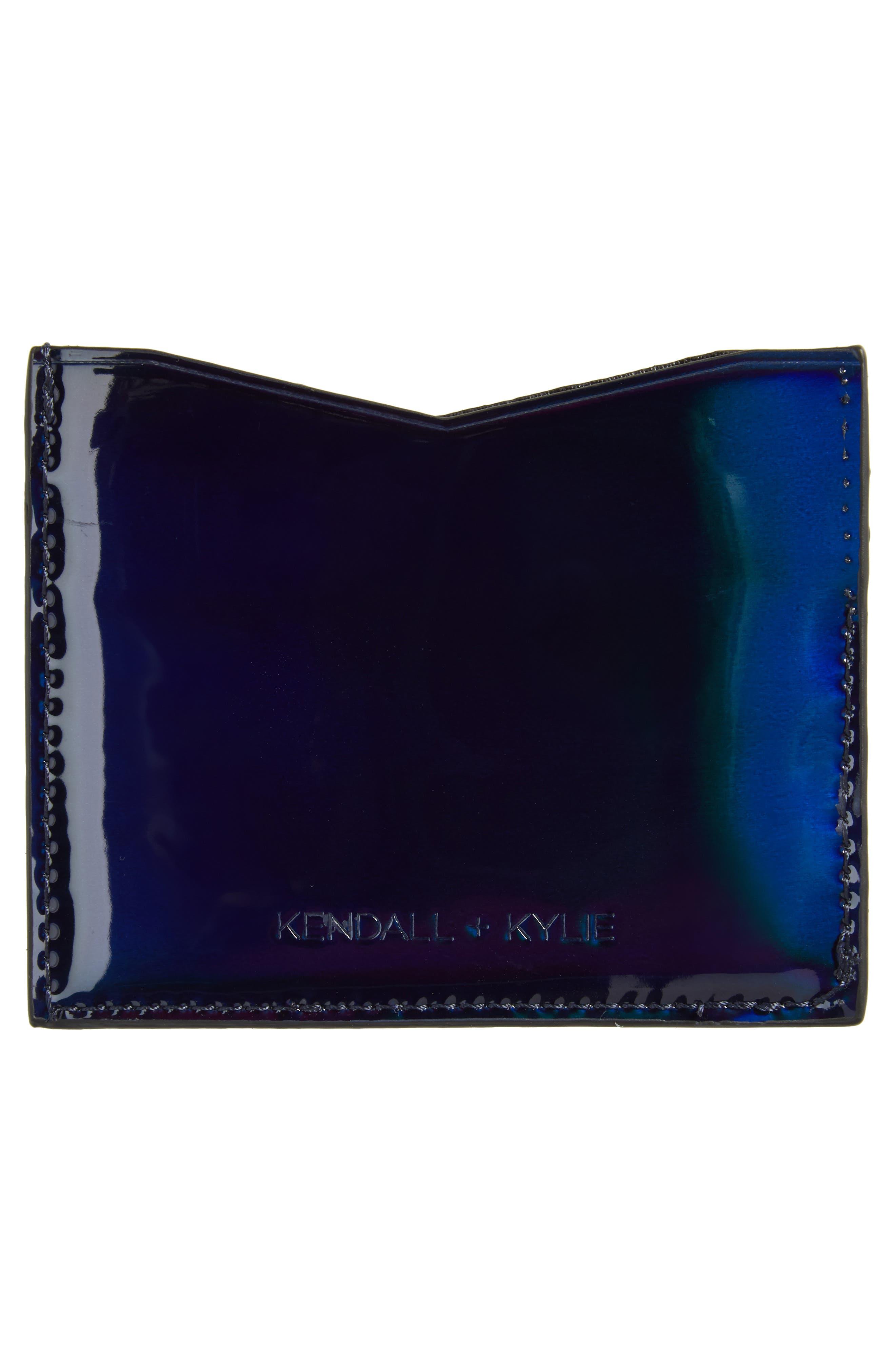 Emma Card Case,                             Alternate thumbnail 2, color,                             Black Iridescent