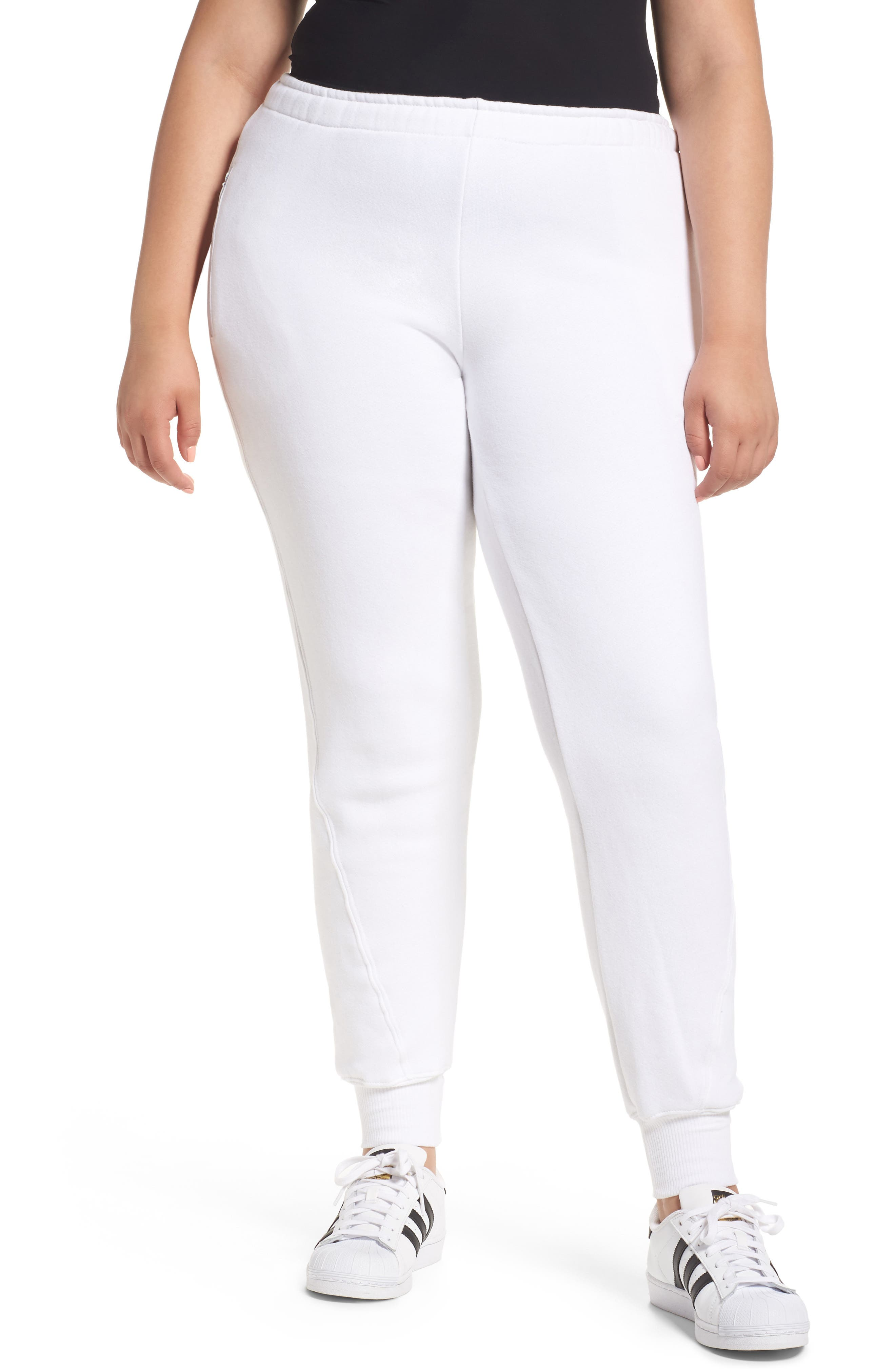 Good Sweats The Twisted Seam Pants,                             Alternate thumbnail 5, color,                             Off White