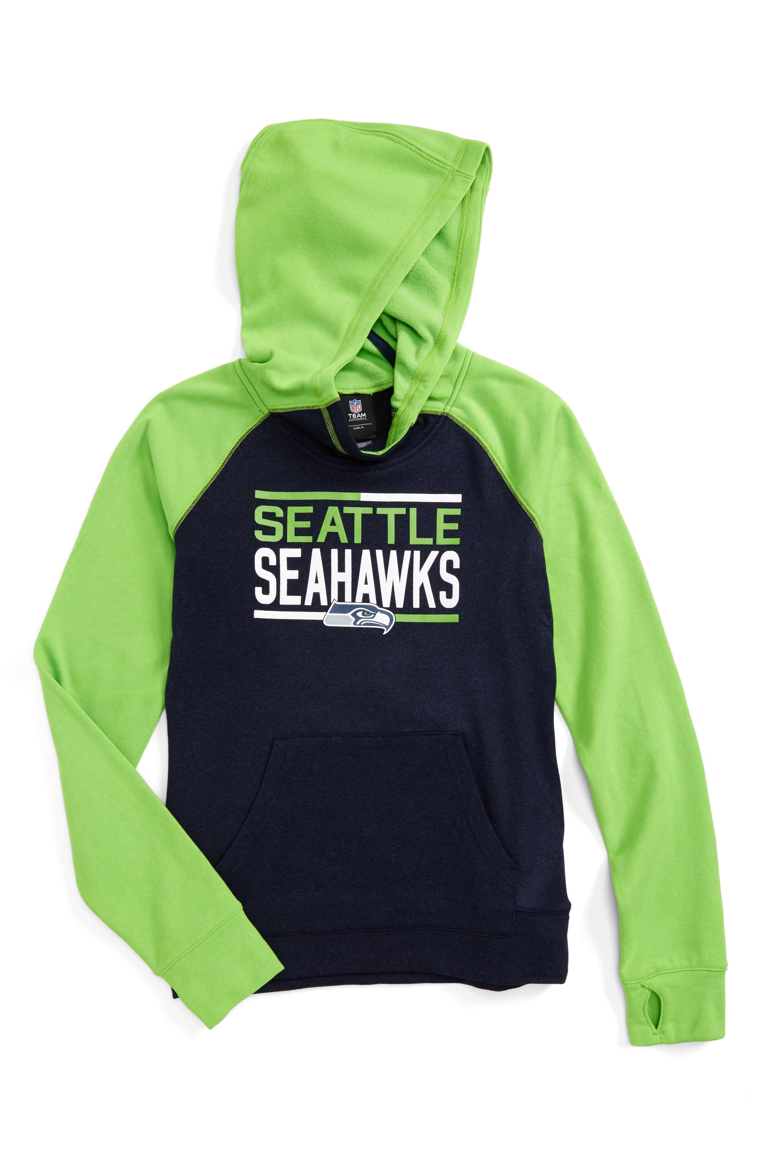 Alternate Image 1 Selected - Outerstuff NFL Seattle Seahawks Hoodie (Big Girls)