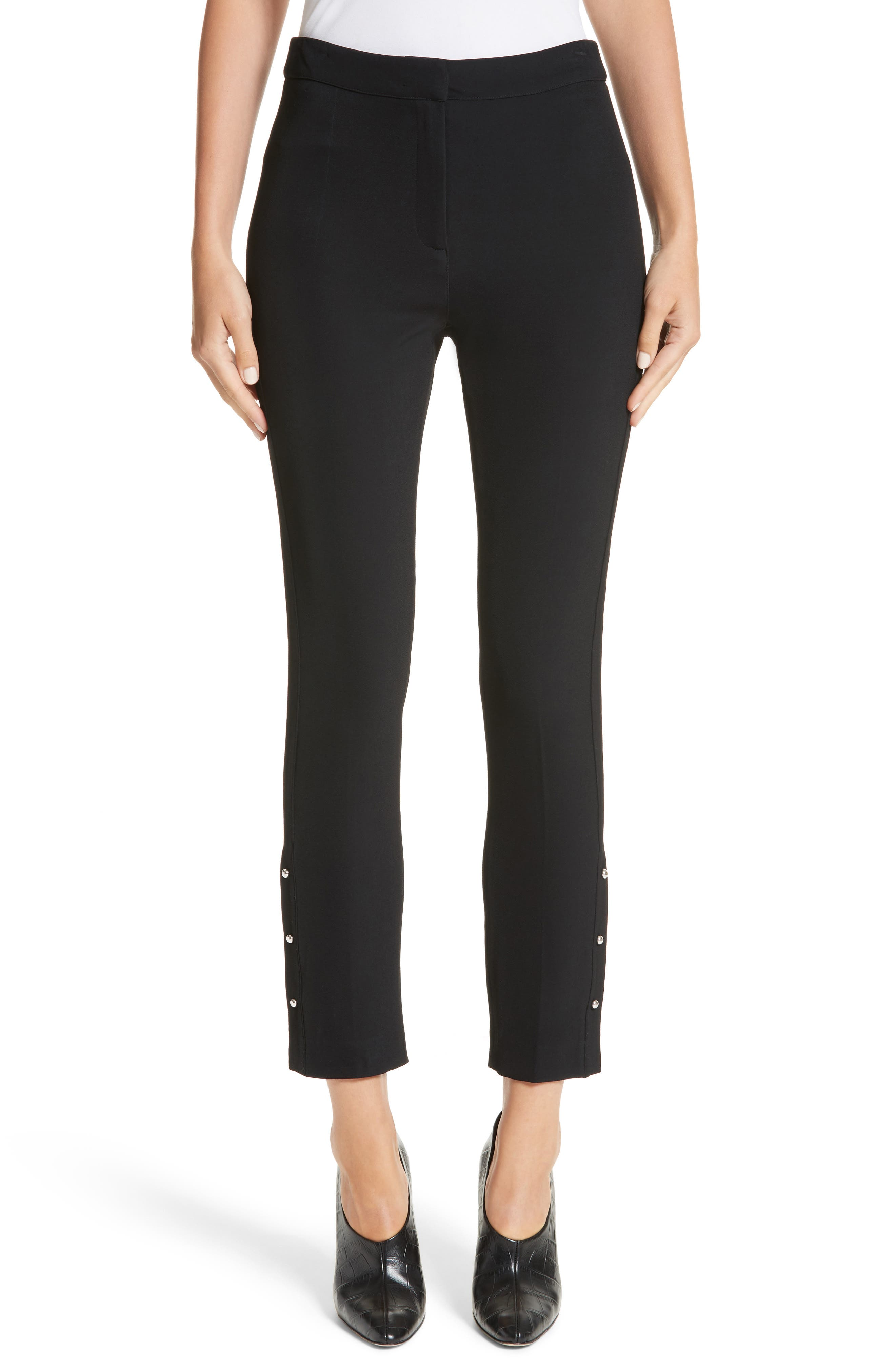 Stretch Twill Straight Leg Pants,                         Main,                         color, Black