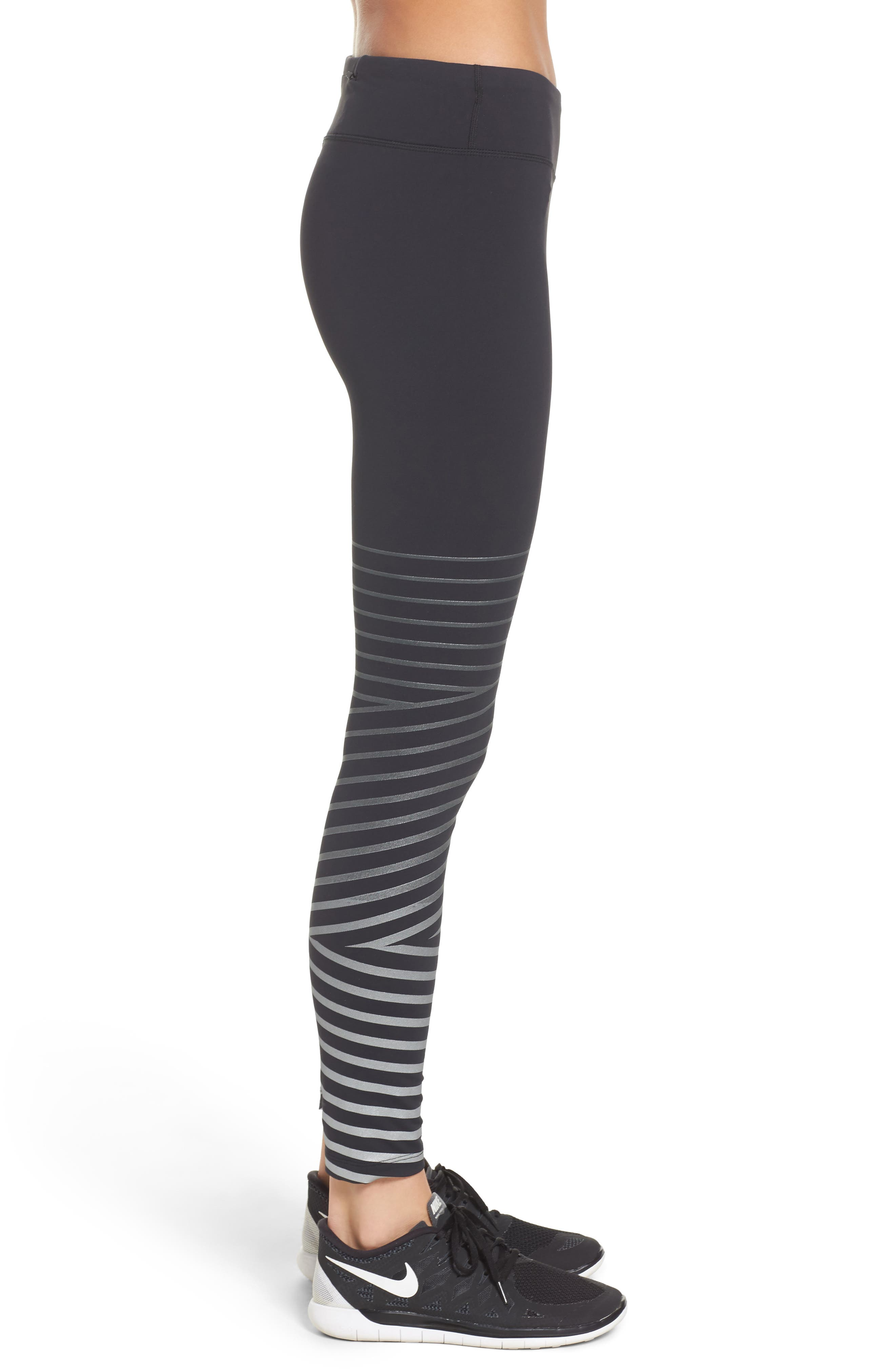 Power Epic Lux Flash Running Tights,                             Alternate thumbnail 3, color,                             Black/ Anthracite