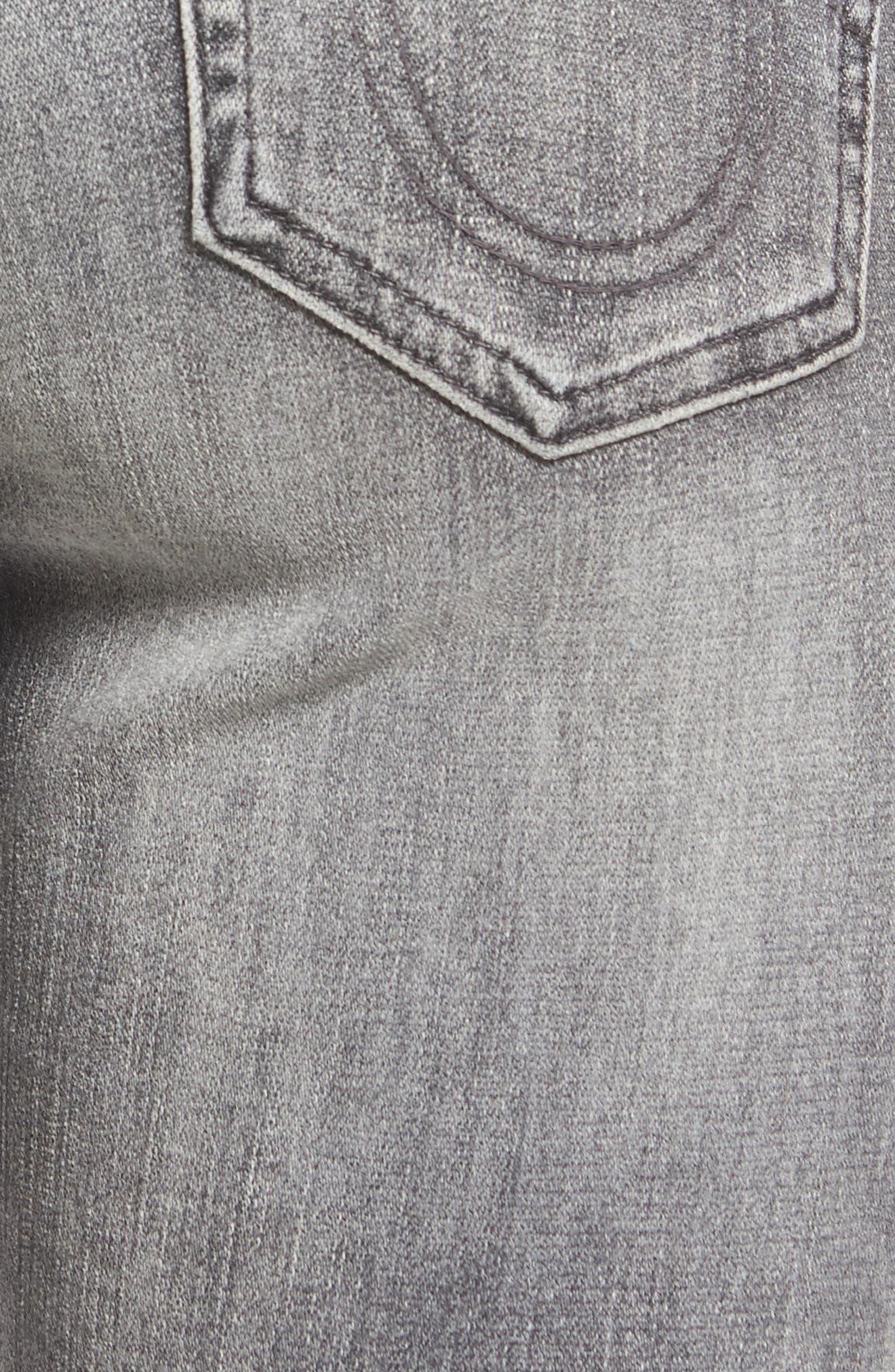 Alternate Image 5  - True Religion Brand Jeans Sara Crop Cigarette Jeans (Eternal Grey)