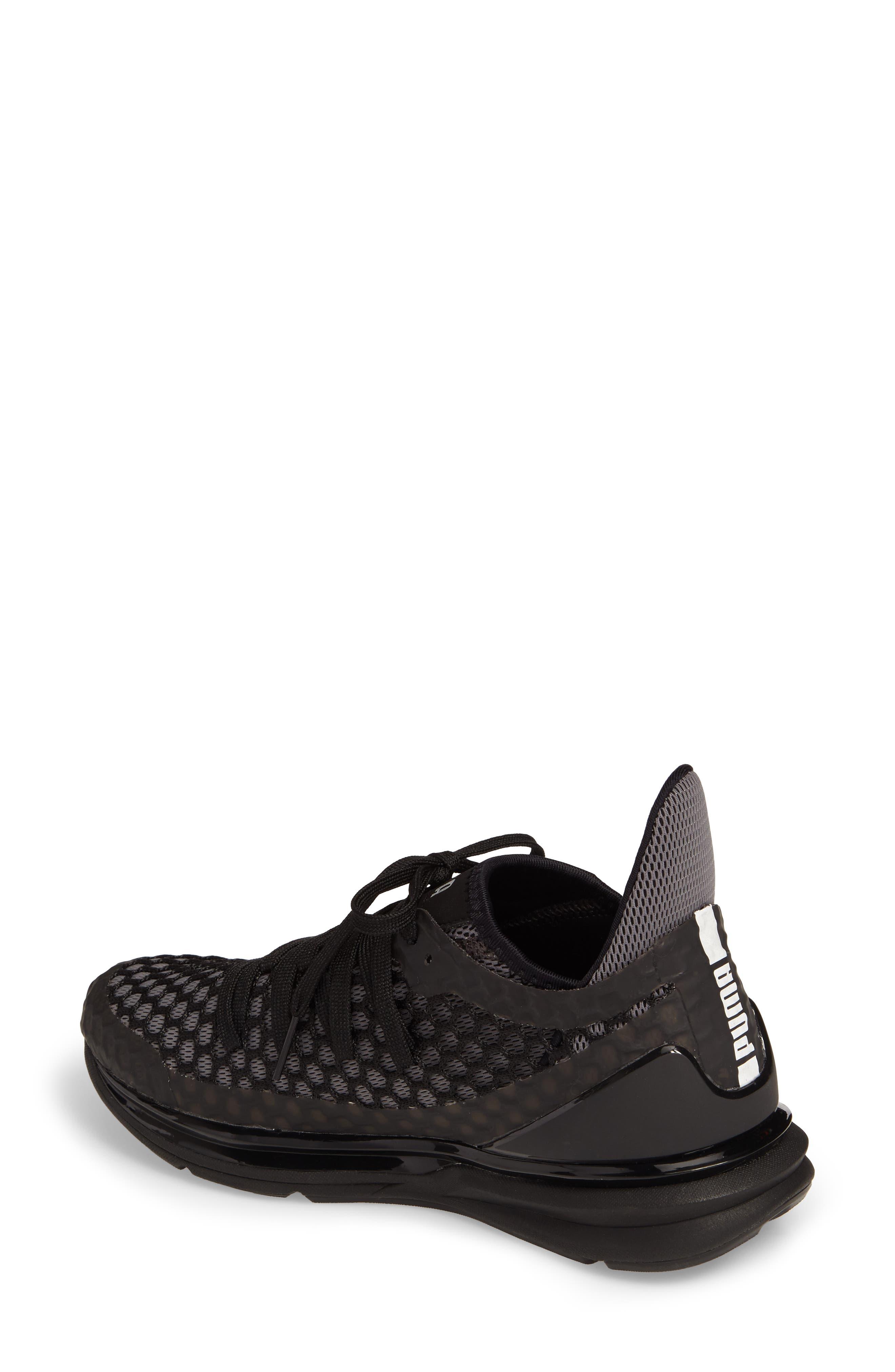 Ignite Limitless Netfit Running Shoe,                             Alternate thumbnail 2, color,                             Black/ Silver