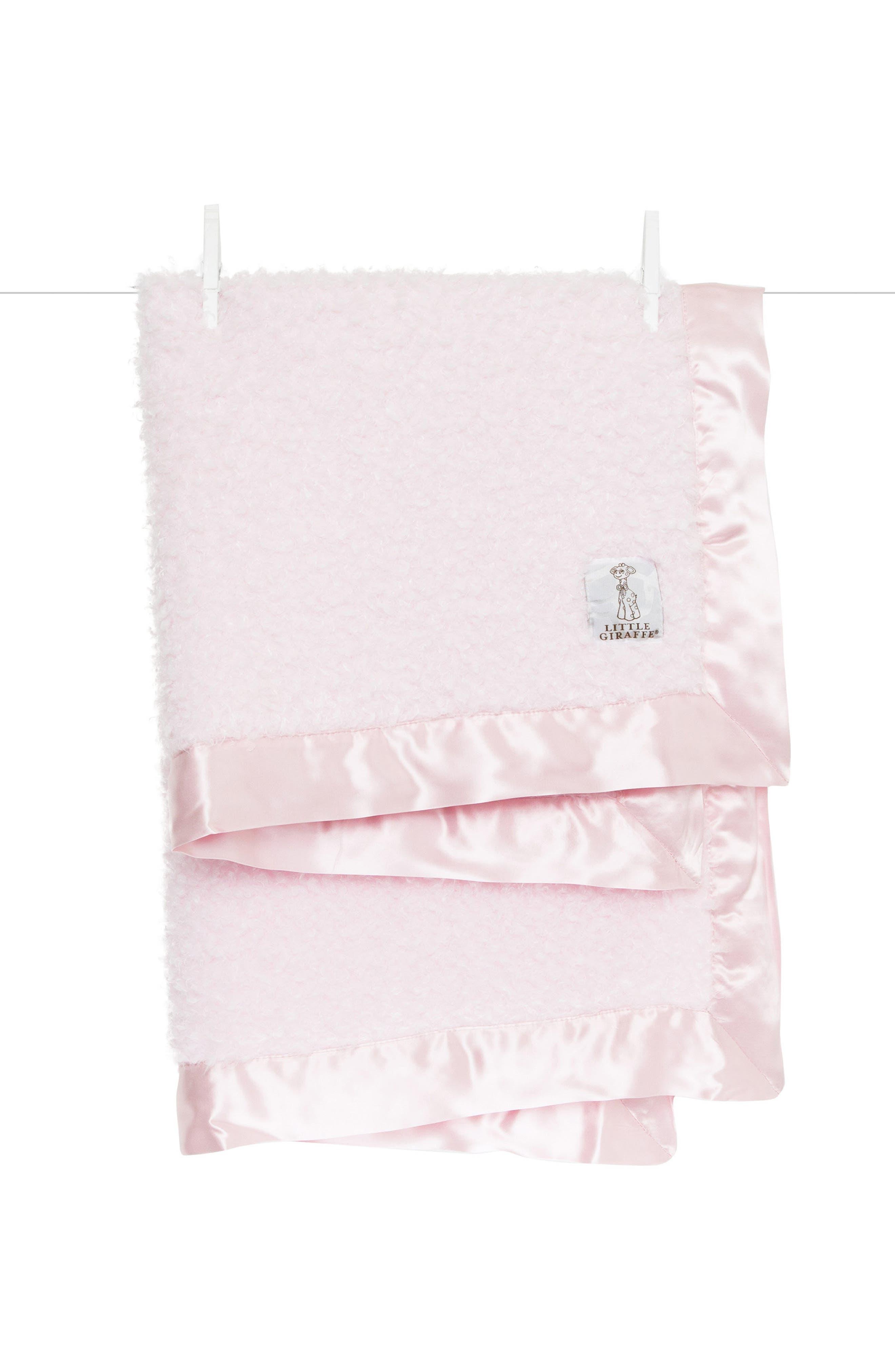 Bouclé Blanket,                         Main,                         color, Pink