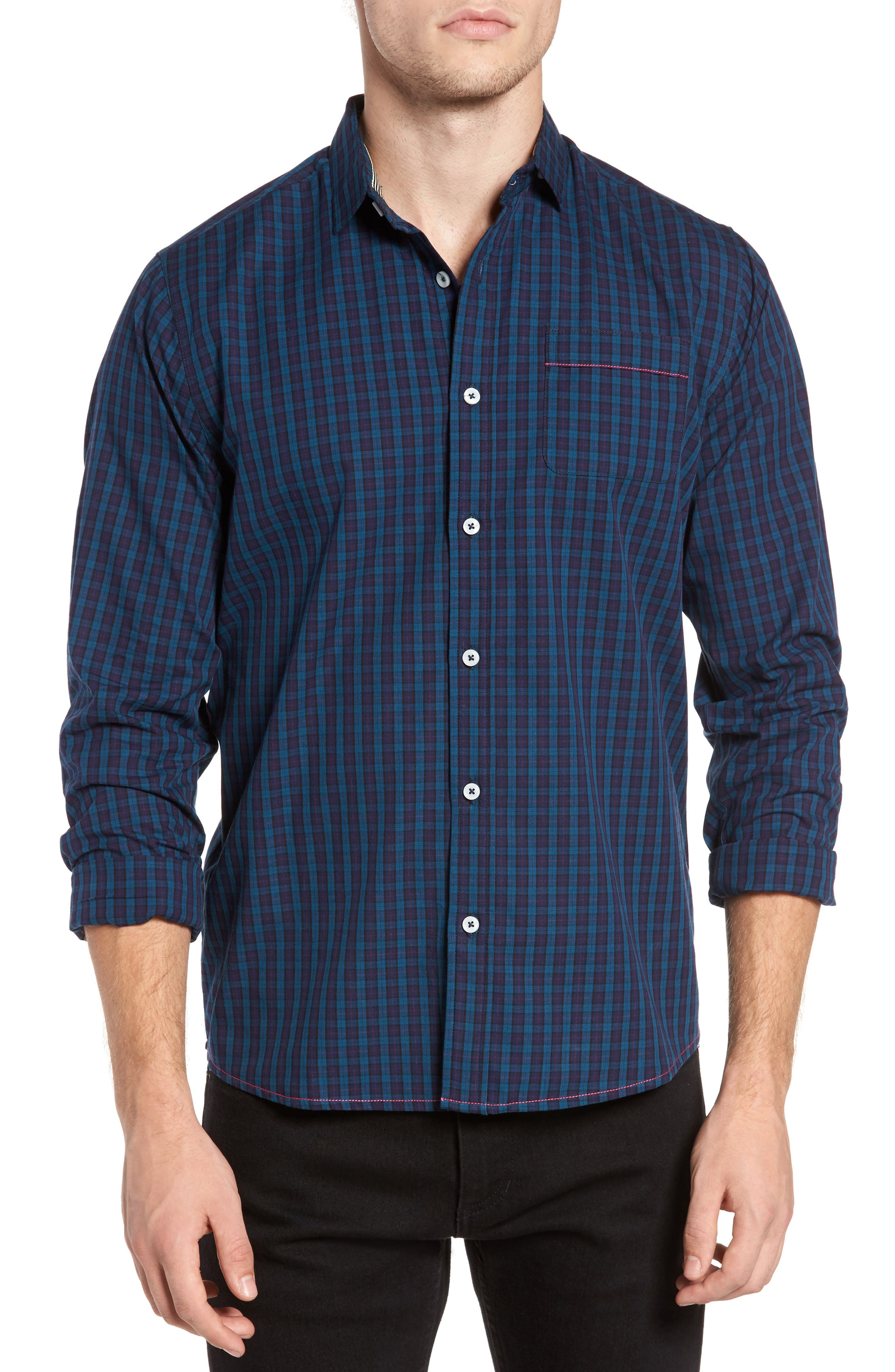Descendant of Thieves Green Tinto Plaid Sport Shirt