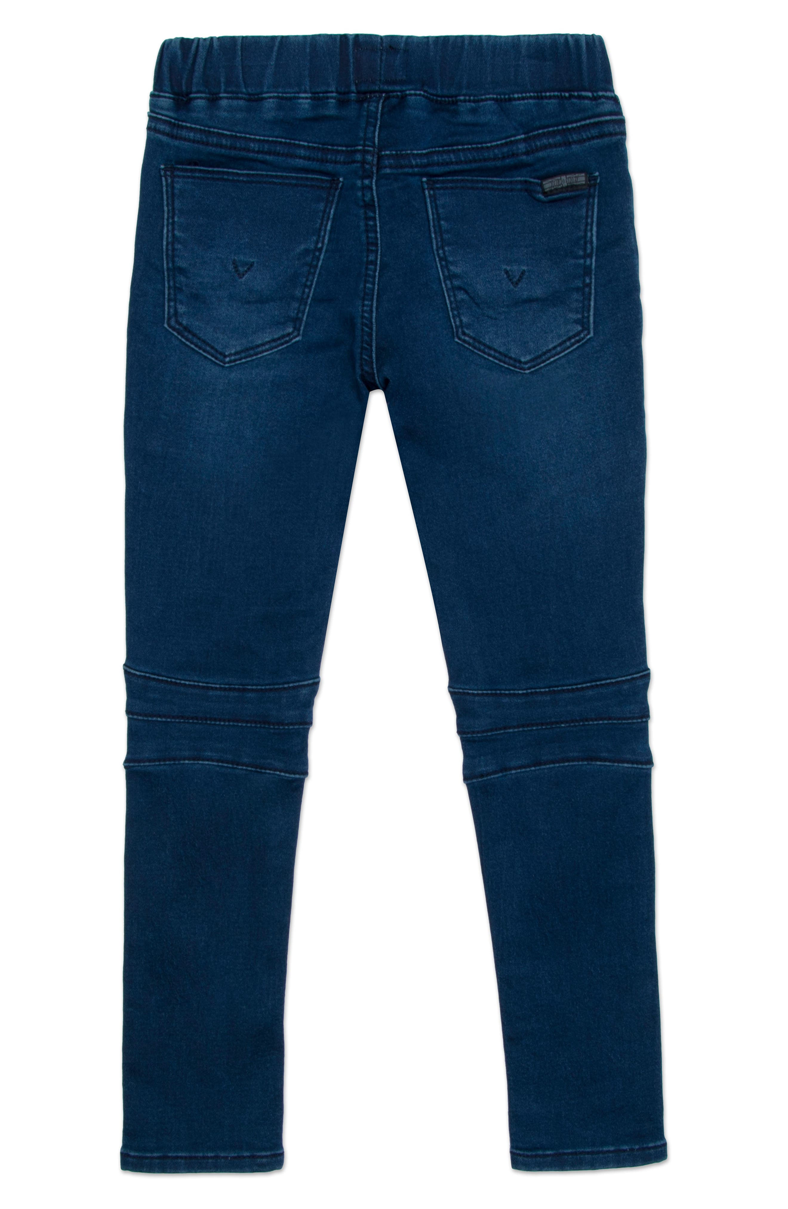 Moto Skinny Jeans,                             Alternate thumbnail 2, color,                             Nile