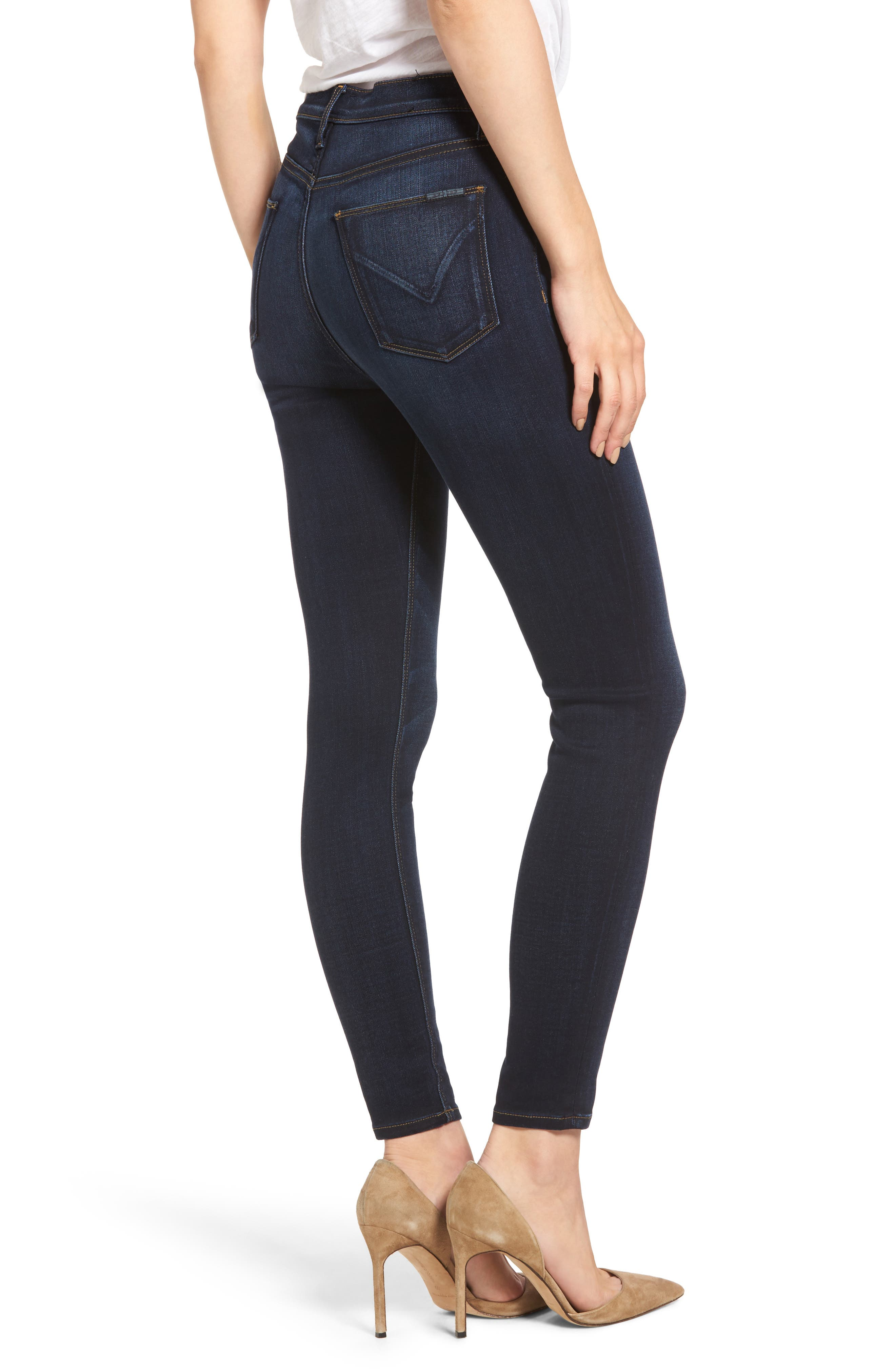 Barbara High Waist Super Skinny Jeans,                             Alternate thumbnail 2, color,                             Calvary