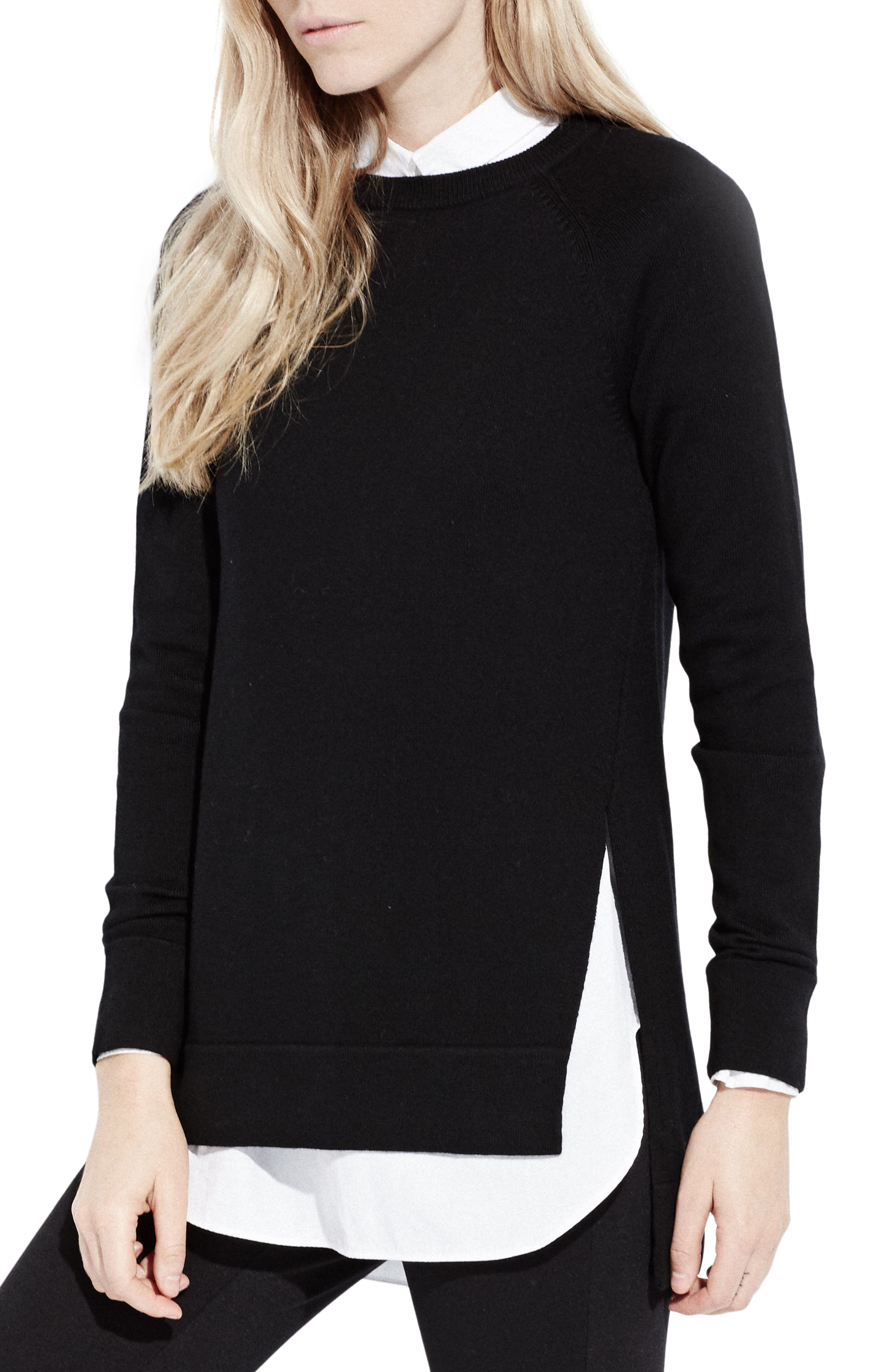 The Twisted Seam Tunic,                             Main thumbnail 1, color,                             Black