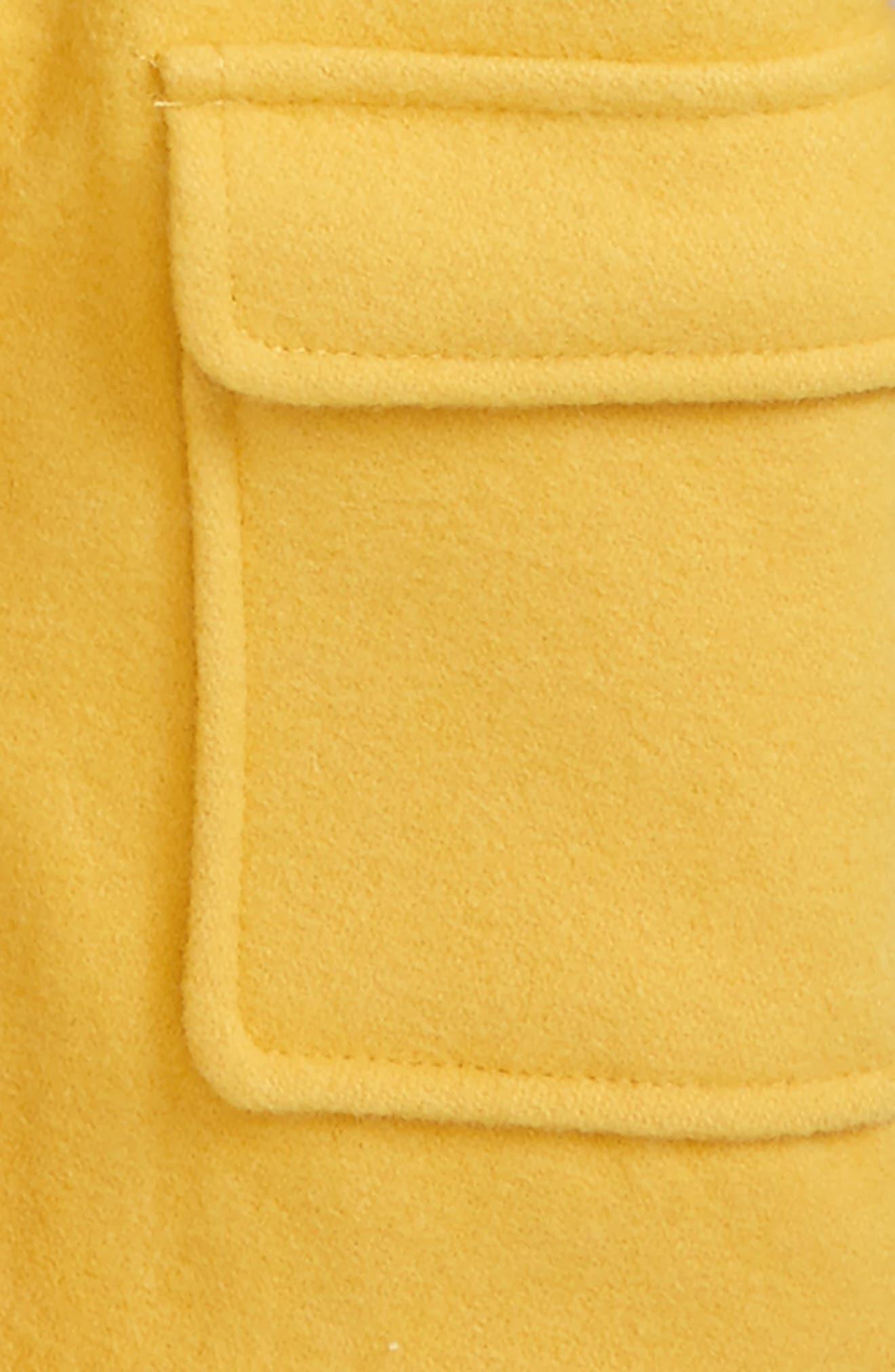 Hooded Duffle Coat,                             Alternate thumbnail 2, color,                             Sunshine Yellow