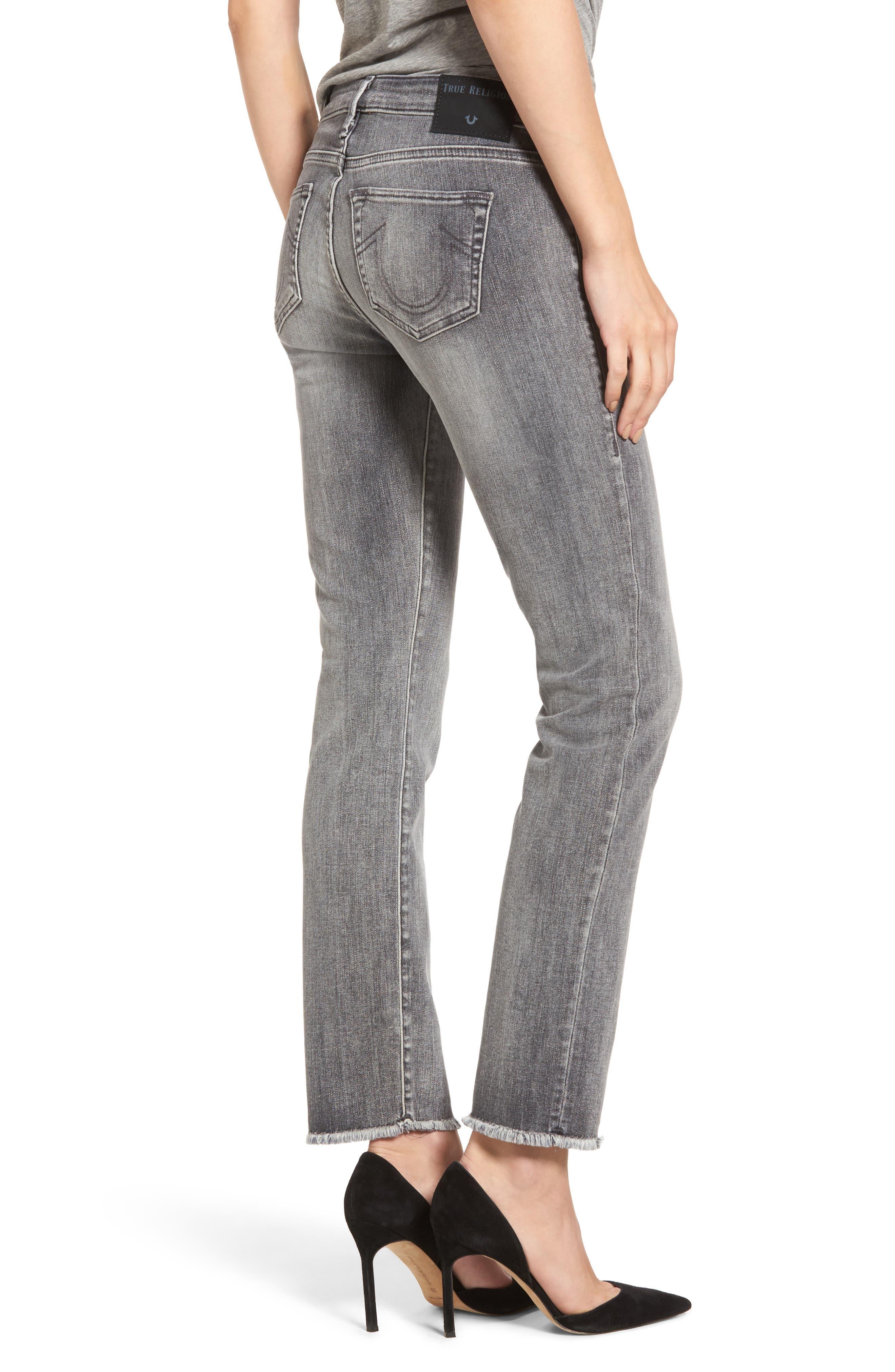 Alternate Image 2  - True Religion Brand Jeans Sara Crop Cigarette Jeans (Eternal Grey)