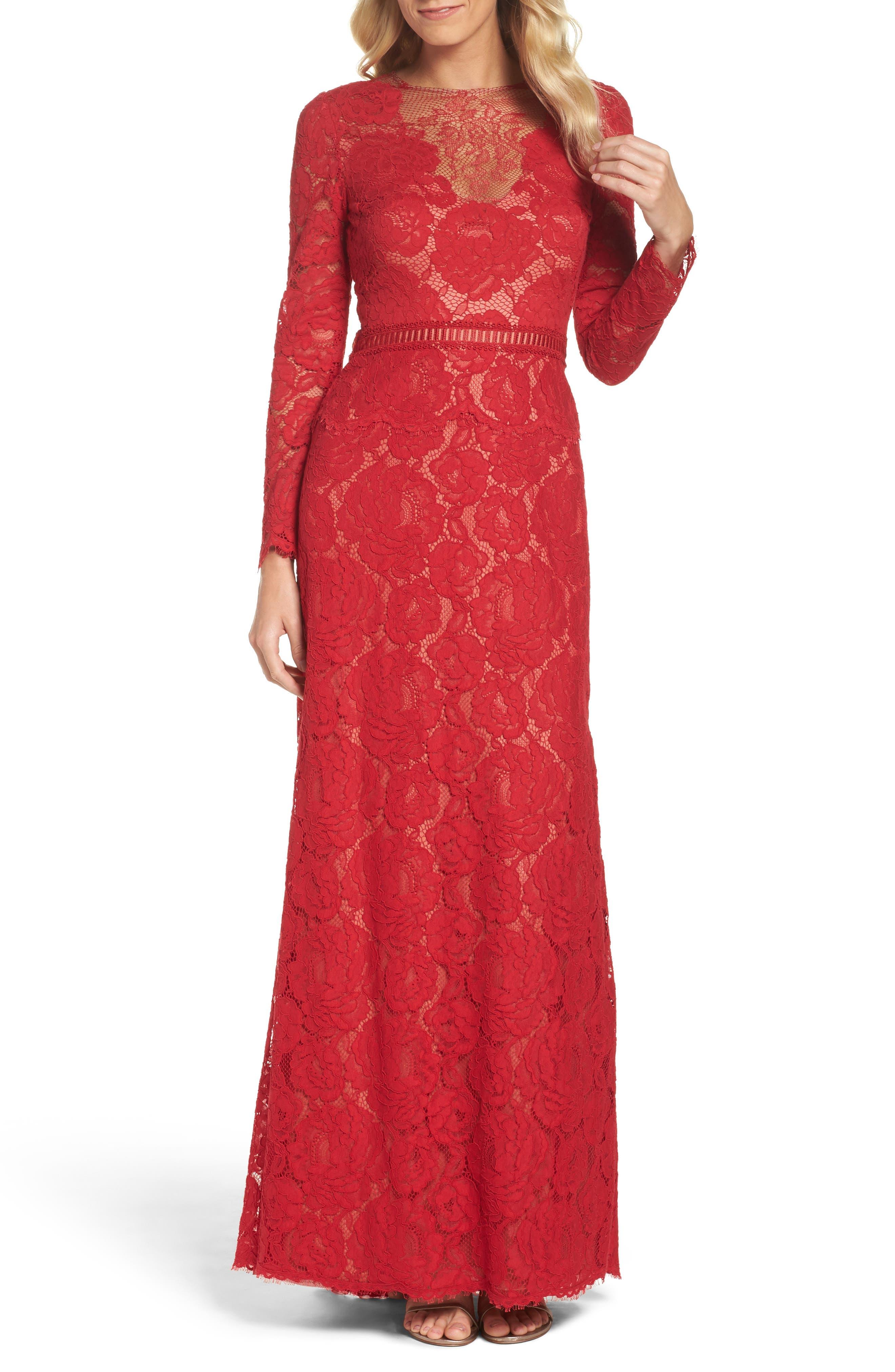 Main Image - Tadashi Shoji Corded Lace Gown