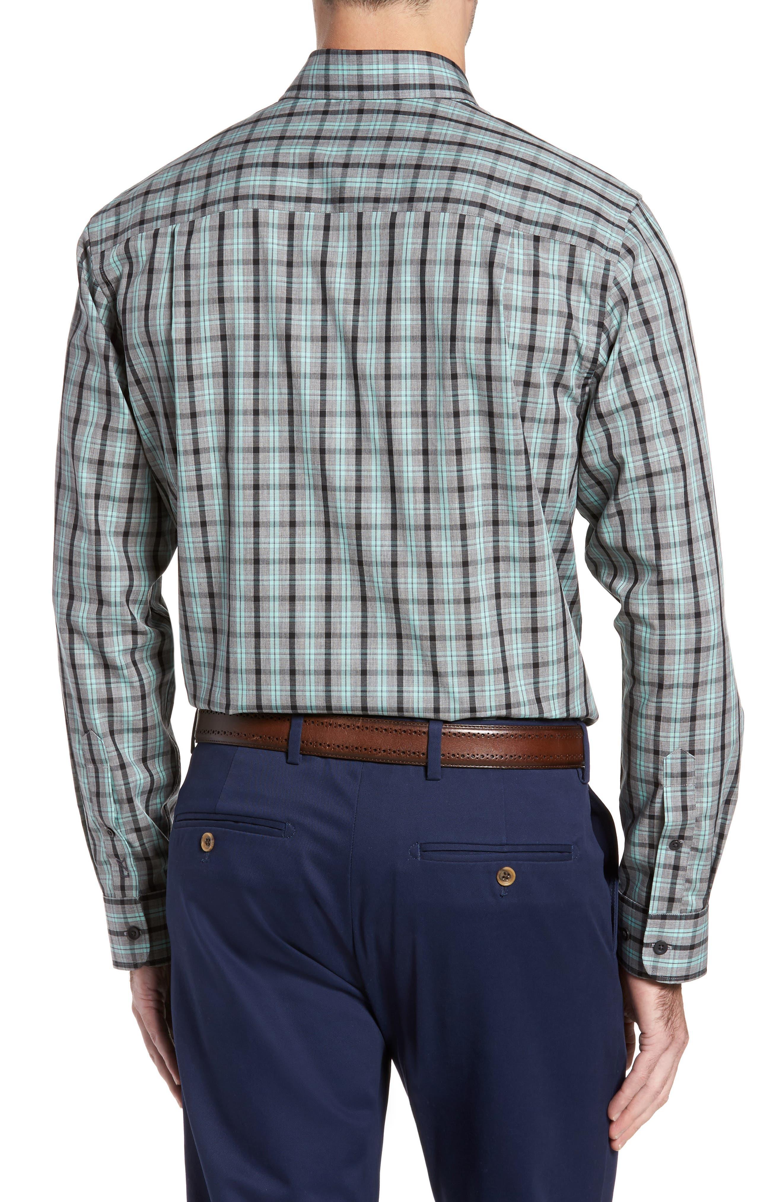 Alternate Image 2  - Cutter & Buck Davis Non-Iron Plaid Sport Shirt