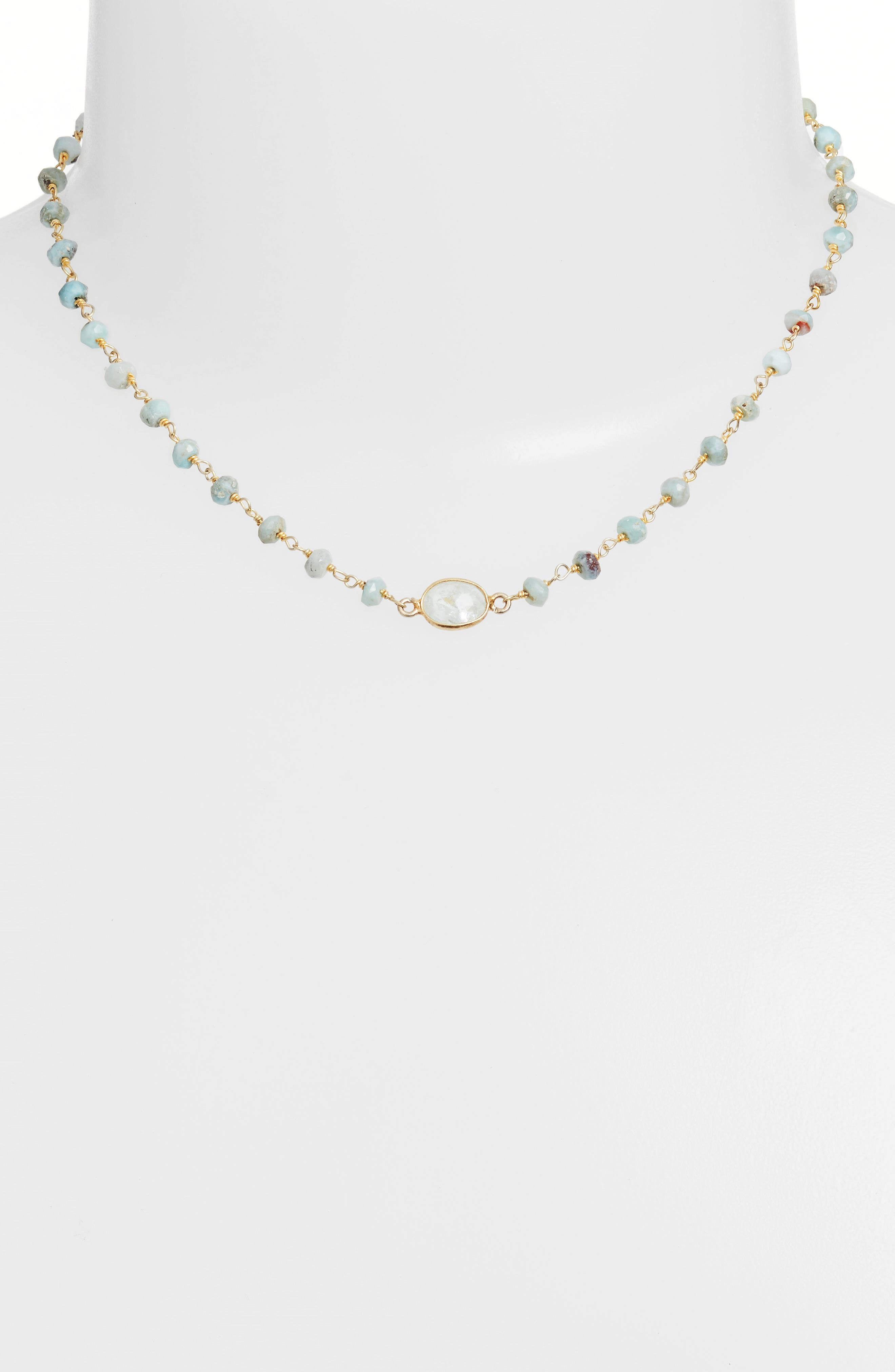 Alternate Image 2  - ela rae Semiprecious Stone Collar Necklace